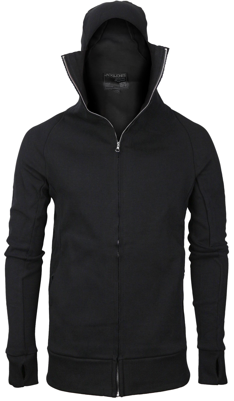 miniature 4 - Men-039-s-Zip-Up-Thumbhole-Ninja-Turtleneck-Skinny-Fit-Face-Protection-Hoodie-Jacket