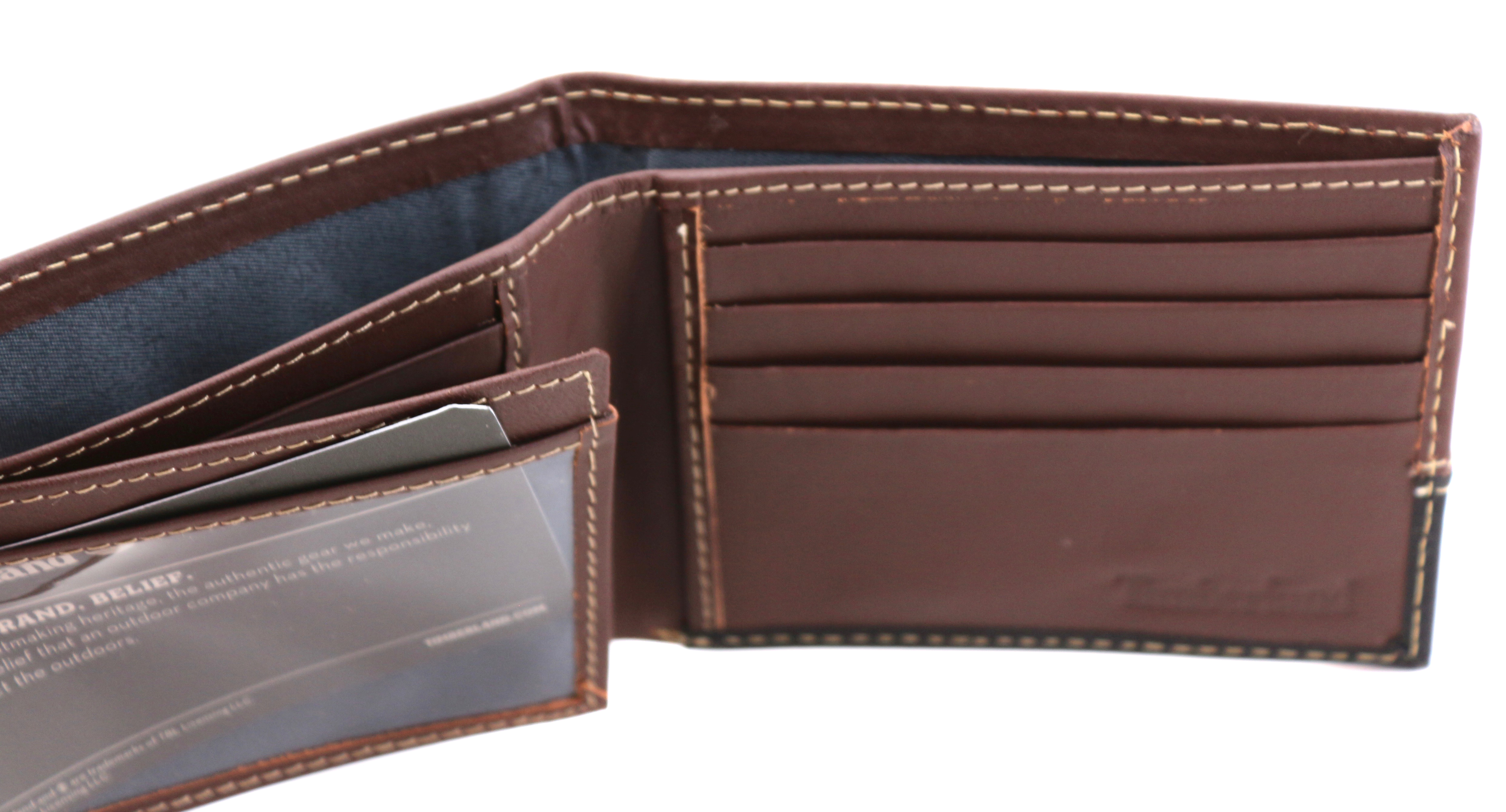 Timberland-Men-039-s-Genuine-Two-Tone-Leather-Credit-Card-Billfold-Commuter-Wallet thumbnail 6