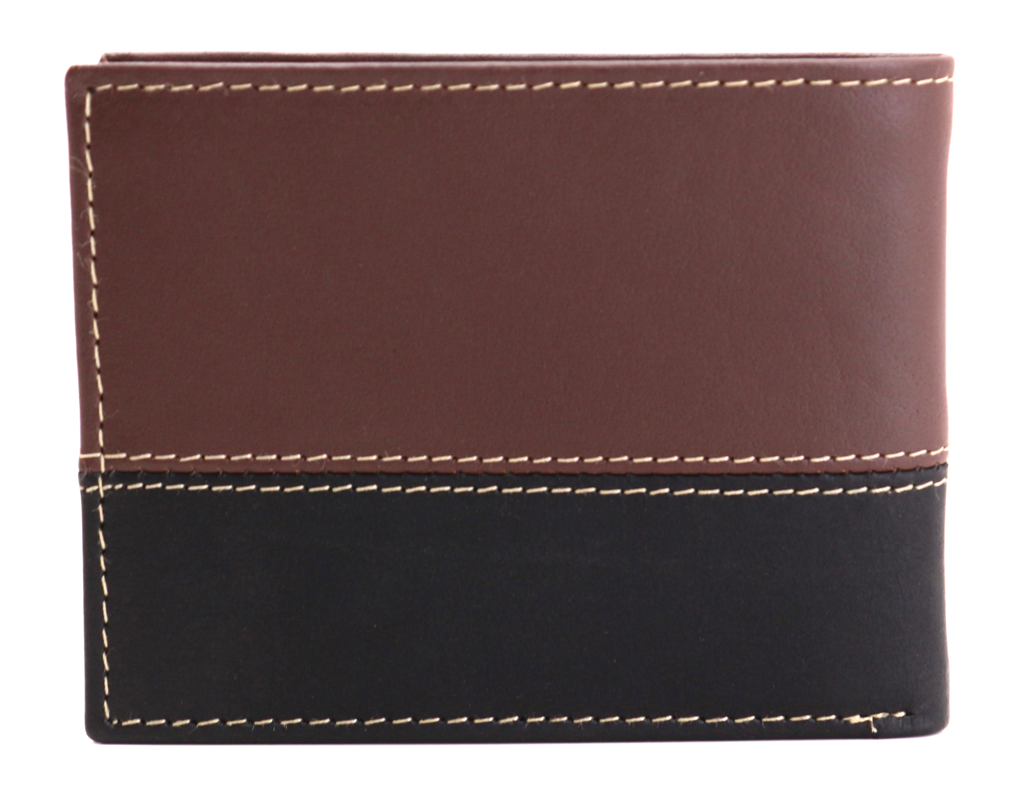 Timberland-Men-039-s-Genuine-Two-Tone-Leather-Credit-Card-Billfold-Commuter-Wallet thumbnail 3