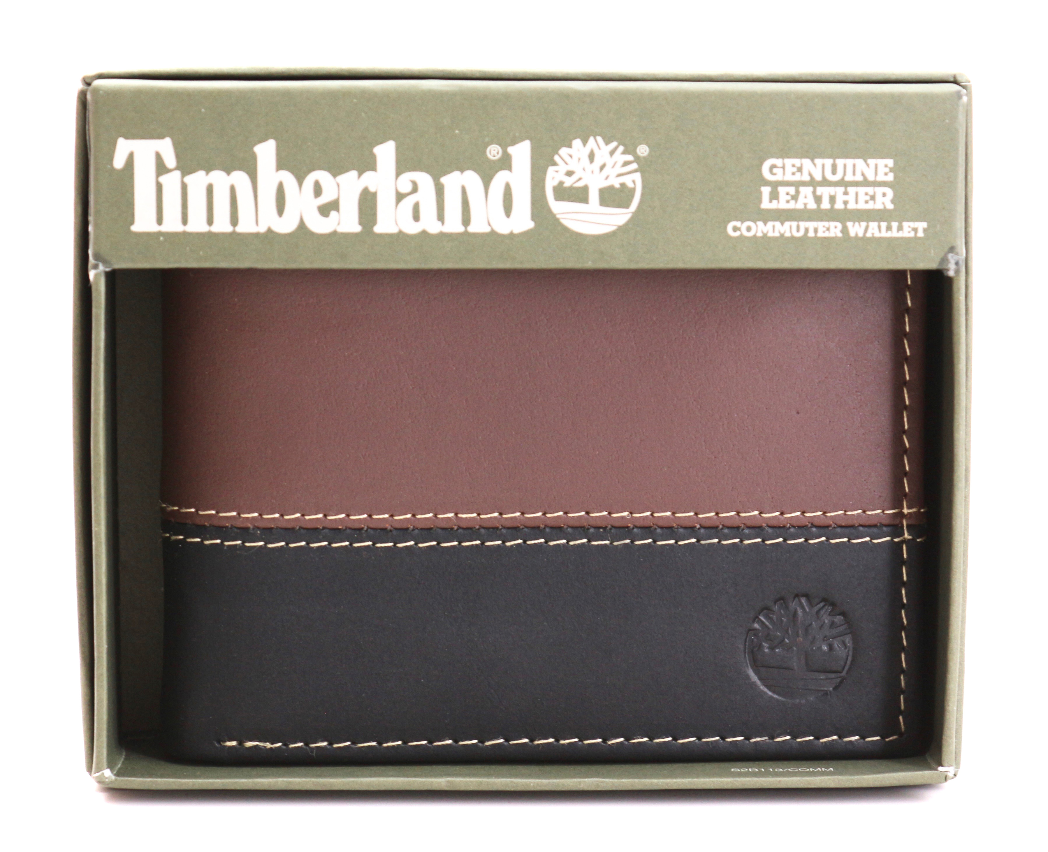 Timberland-Men-039-s-Genuine-Two-Tone-Leather-Credit-Card-Billfold-Commuter-Wallet thumbnail 8