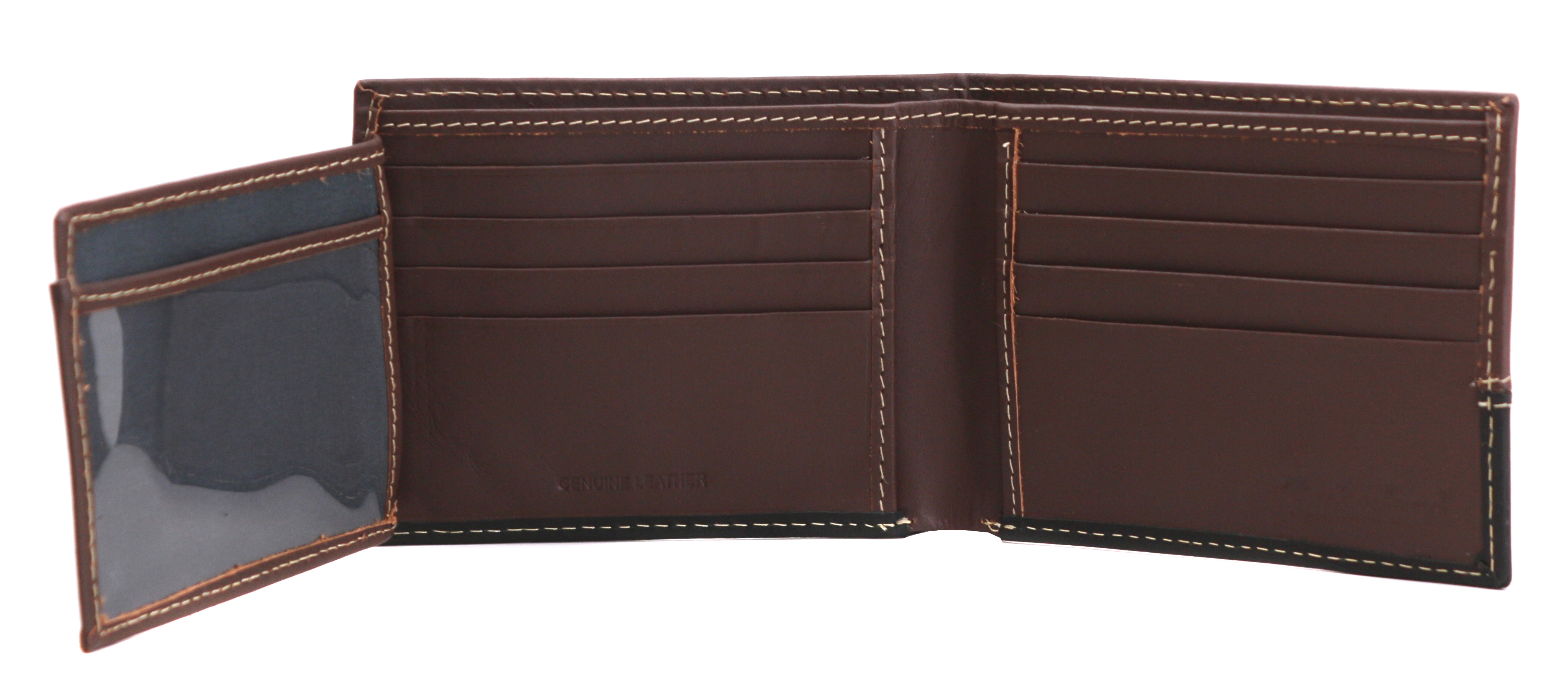 Timberland-Men-039-s-Genuine-Two-Tone-Leather-Credit-Card-Billfold-Commuter-Wallet thumbnail 5