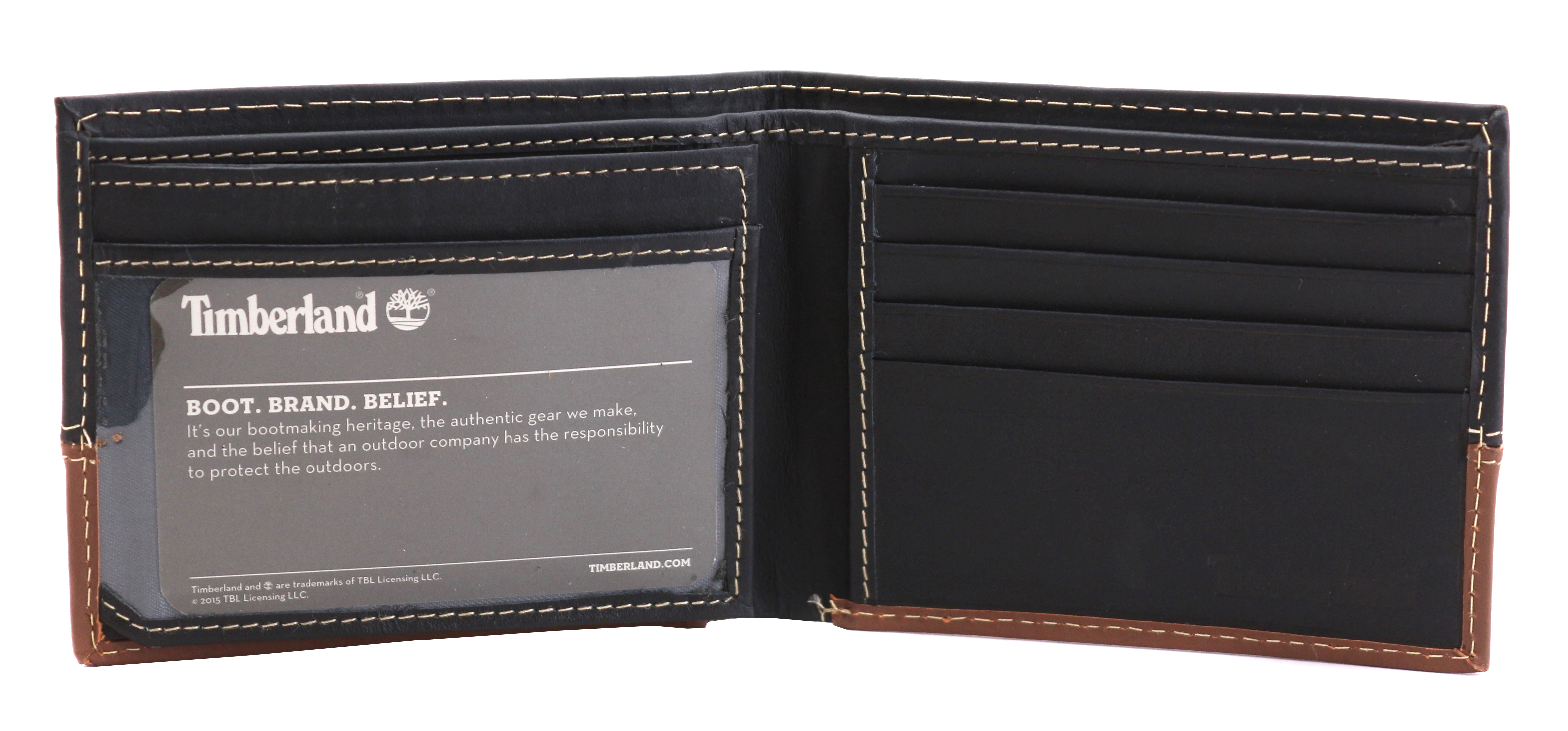 Timberland-Men-039-s-Genuine-Two-Tone-Leather-Credit-Card-Billfold-Commuter-Wallet thumbnail 13