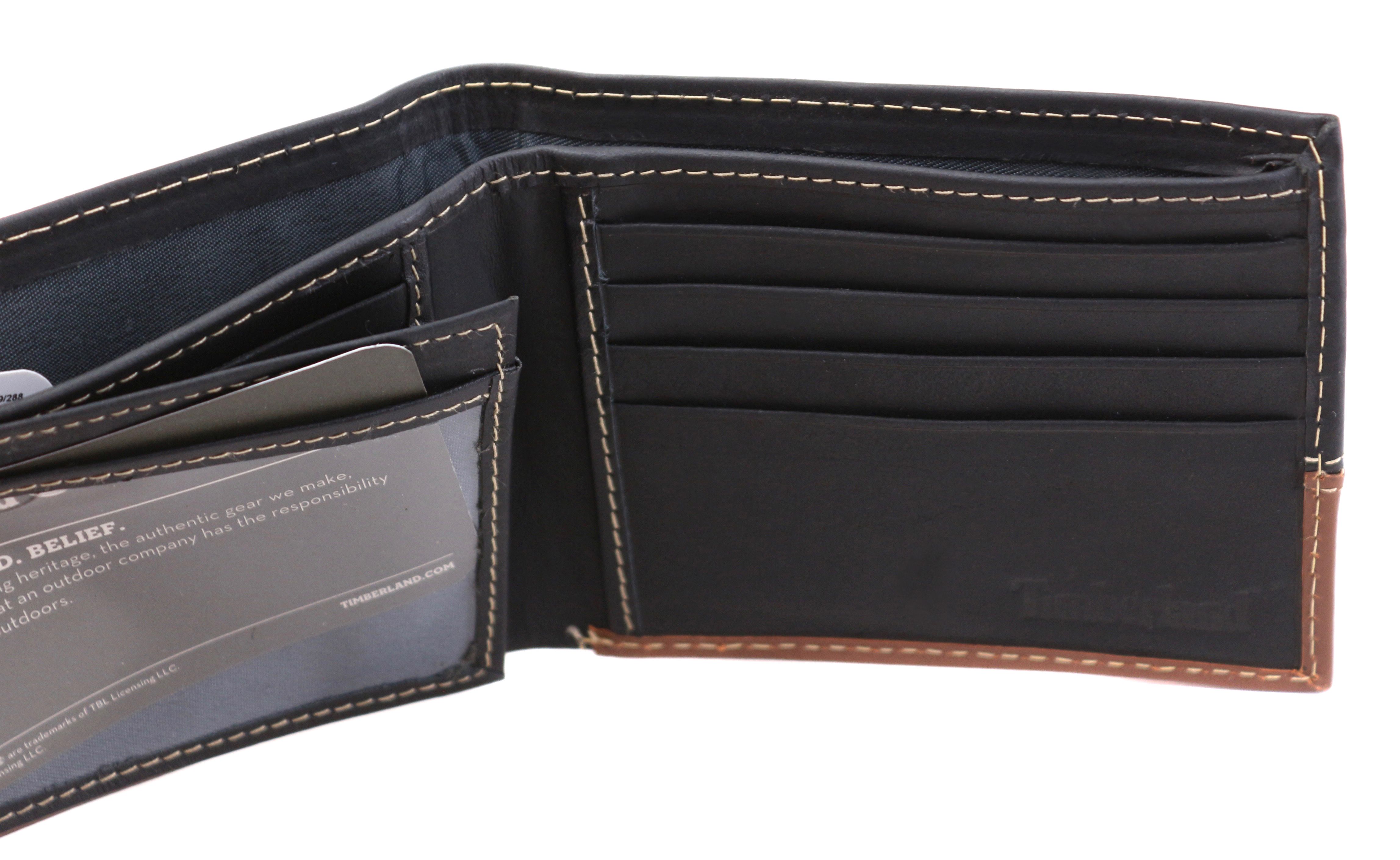 Timberland-Men-039-s-Genuine-Two-Tone-Leather-Credit-Card-Billfold-Commuter-Wallet thumbnail 15