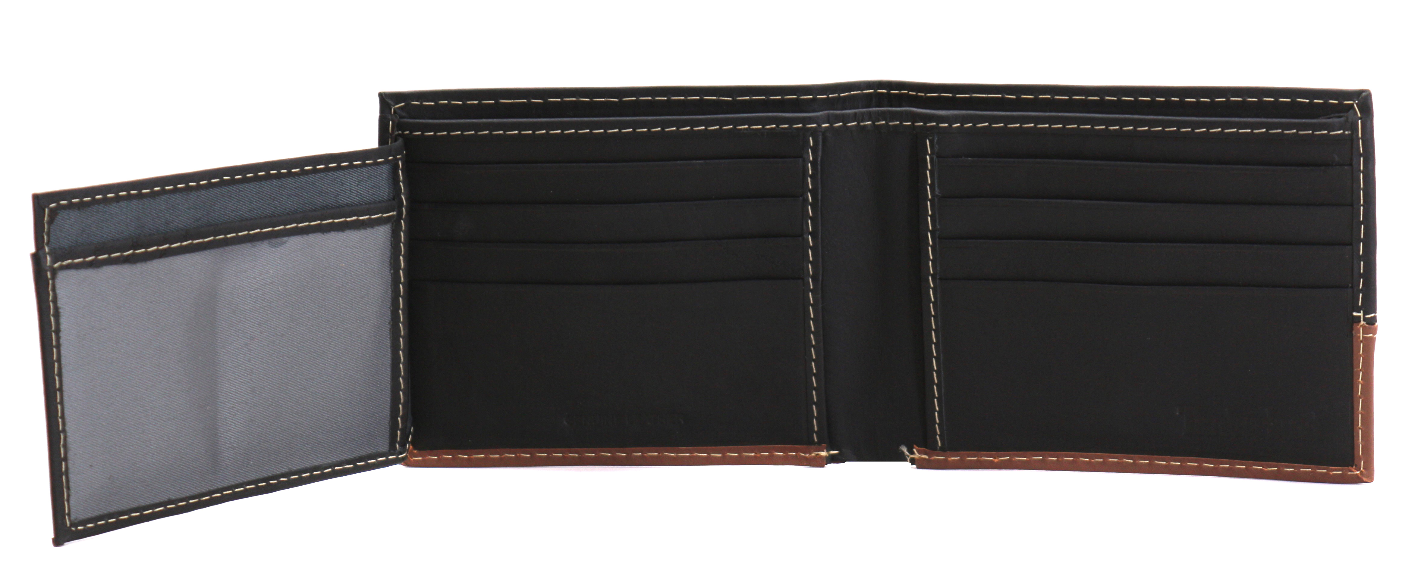 Timberland-Men-039-s-Genuine-Two-Tone-Leather-Credit-Card-Billfold-Commuter-Wallet thumbnail 14