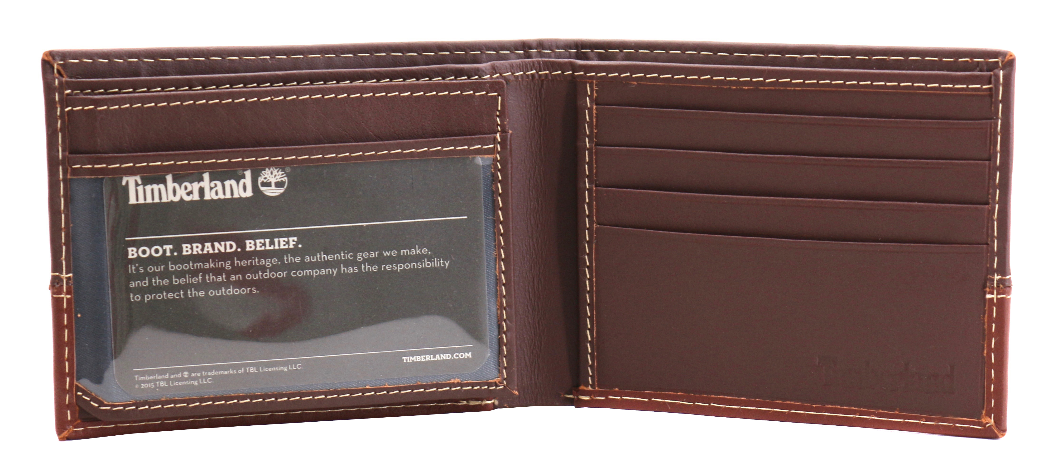 Timberland-Men-039-s-Genuine-Two-Tone-Leather-Credit-Card-Billfold-Commuter-Wallet thumbnail 22