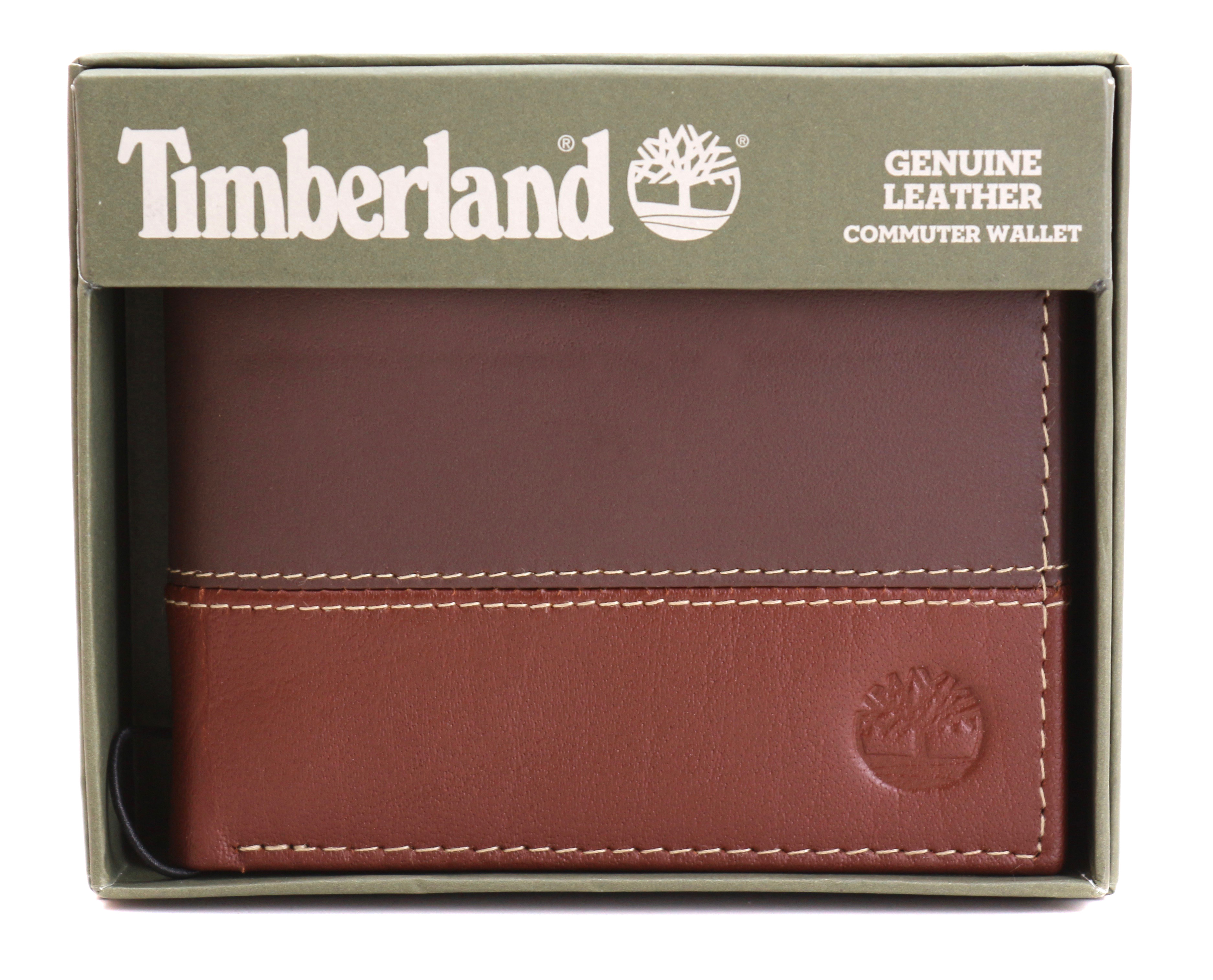 Timberland-Men-039-s-Genuine-Two-Tone-Leather-Credit-Card-Billfold-Commuter-Wallet thumbnail 25