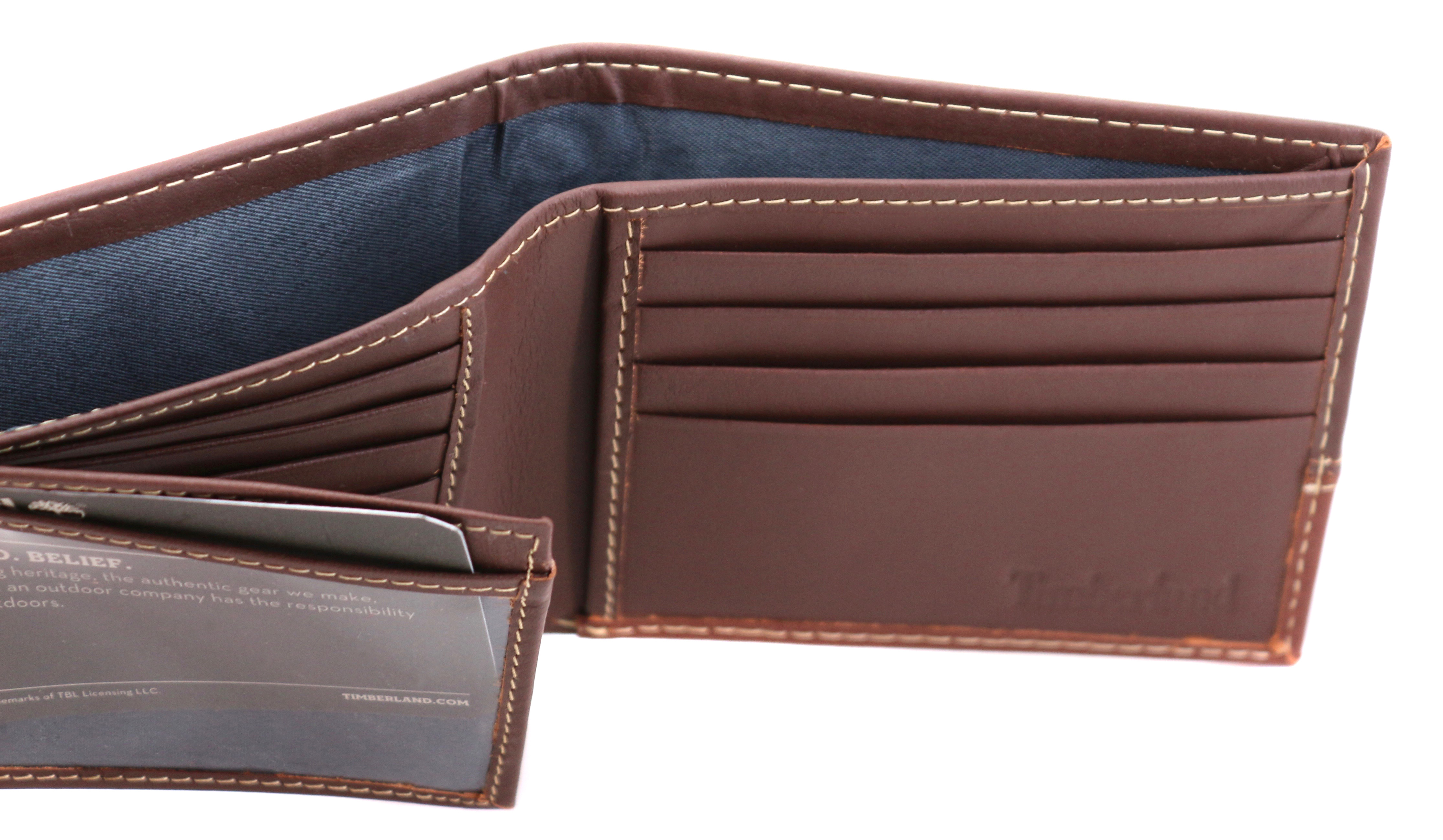 Timberland-Men-039-s-Genuine-Two-Tone-Leather-Credit-Card-Billfold-Commuter-Wallet thumbnail 24