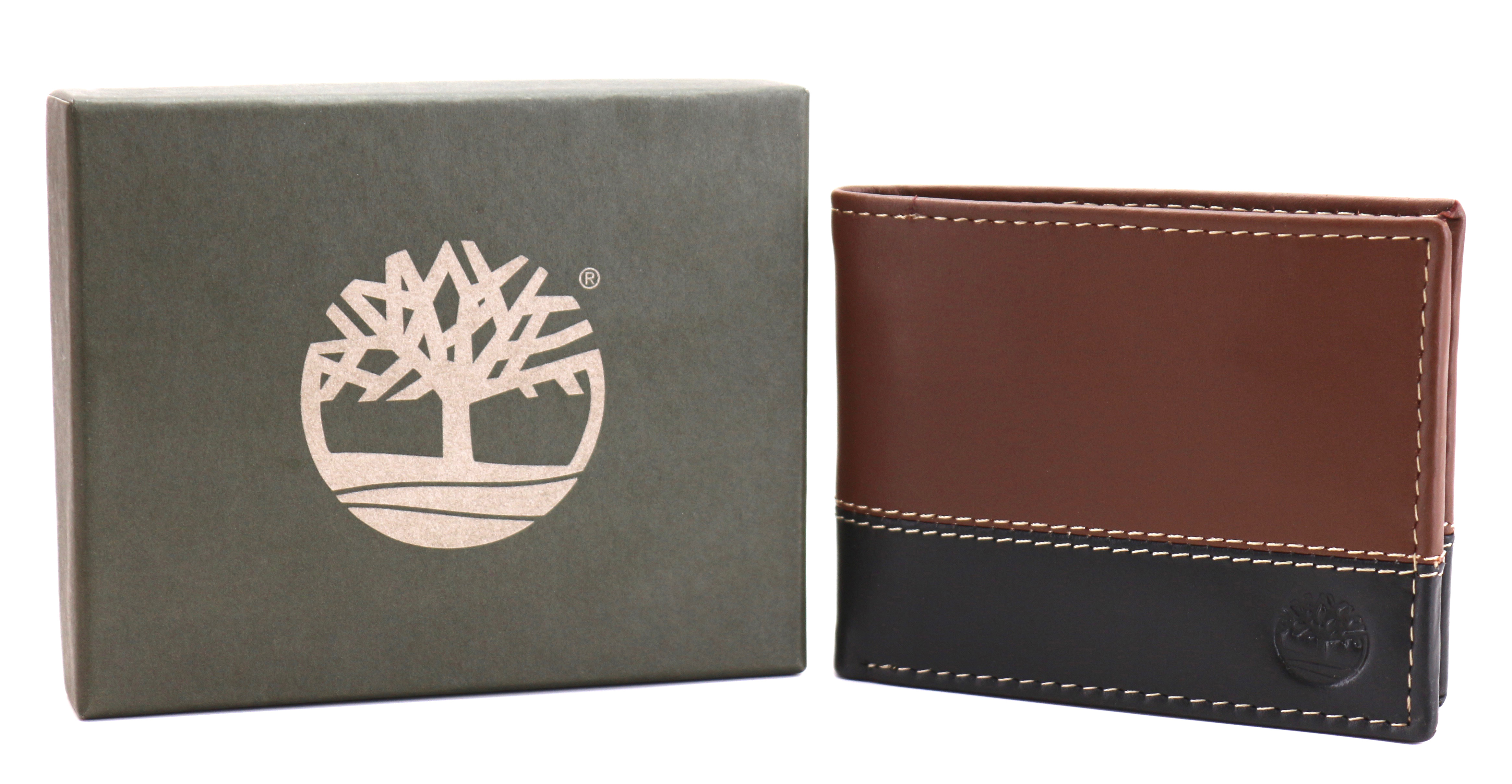 Timberland-Men-039-s-Genuine-Two-Tone-Leather-Credit-Card-Billfold-Commuter-Wallet thumbnail 34