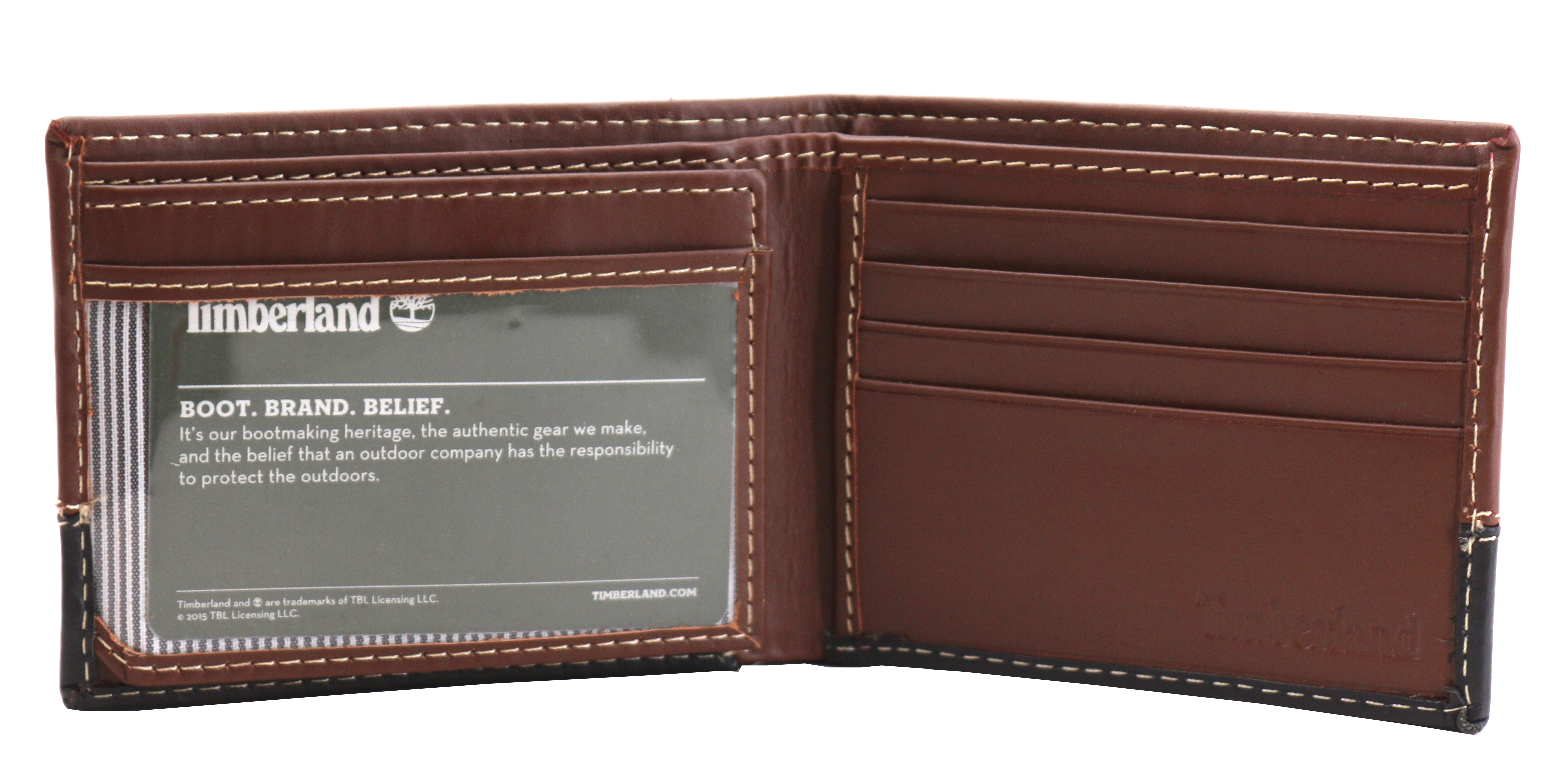 Timberland-Men-039-s-Genuine-Two-Tone-Leather-Credit-Card-Billfold-Commuter-Wallet thumbnail 31