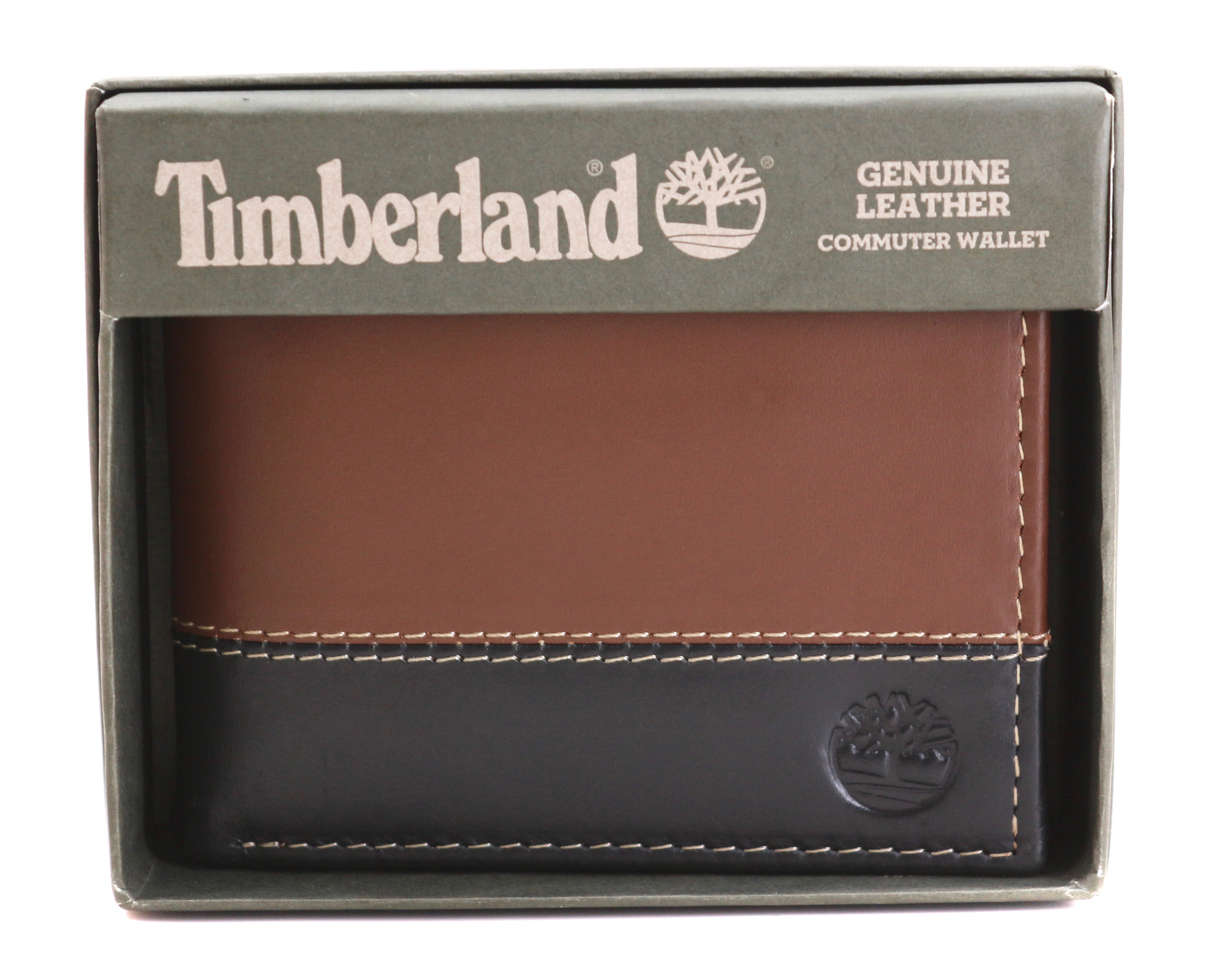 Timberland-Men-039-s-Genuine-Two-Tone-Leather-Credit-Card-Billfold-Commuter-Wallet thumbnail 35