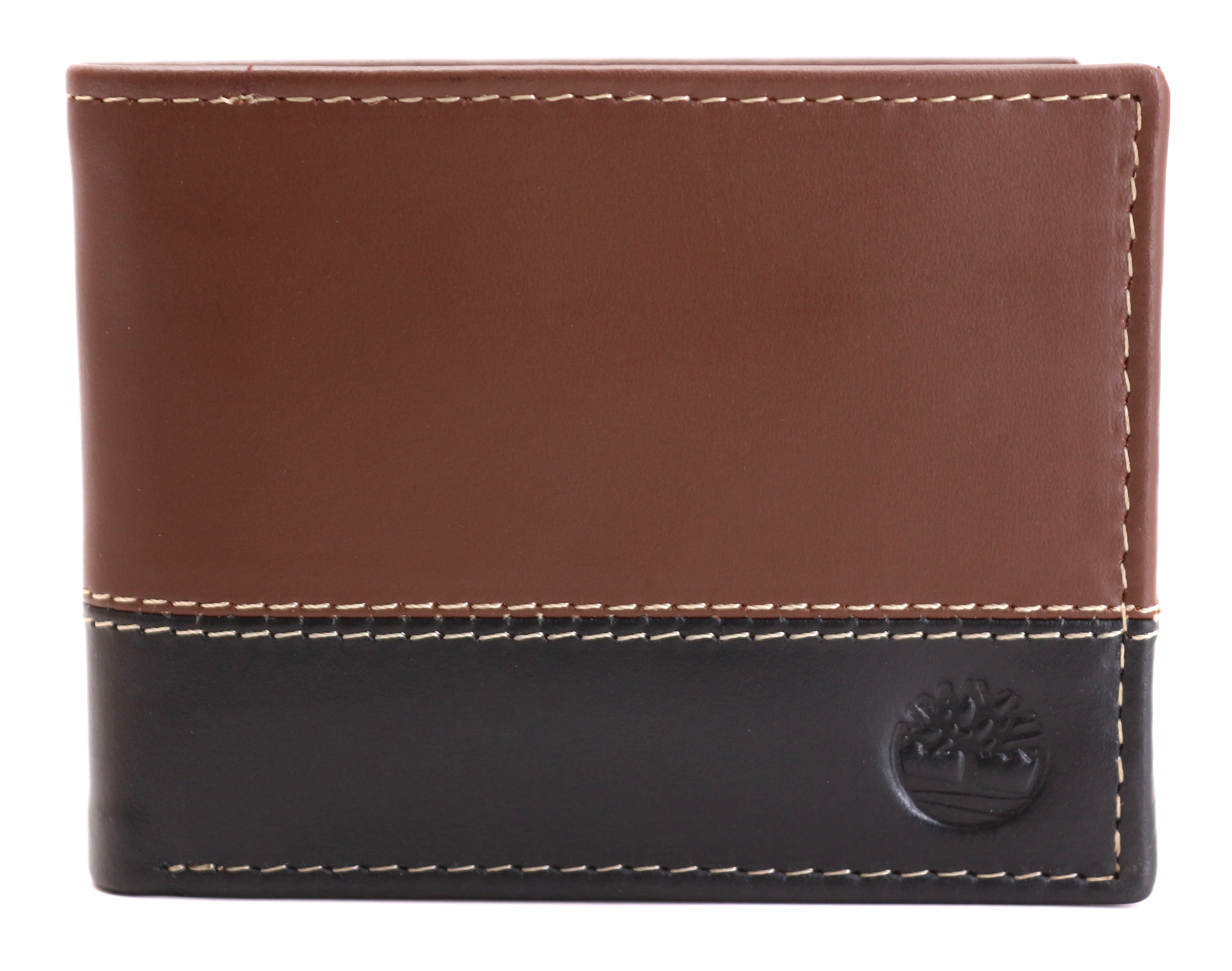 Timberland-Men-039-s-Genuine-Two-Tone-Leather-Credit-Card-Billfold-Commuter-Wallet thumbnail 29