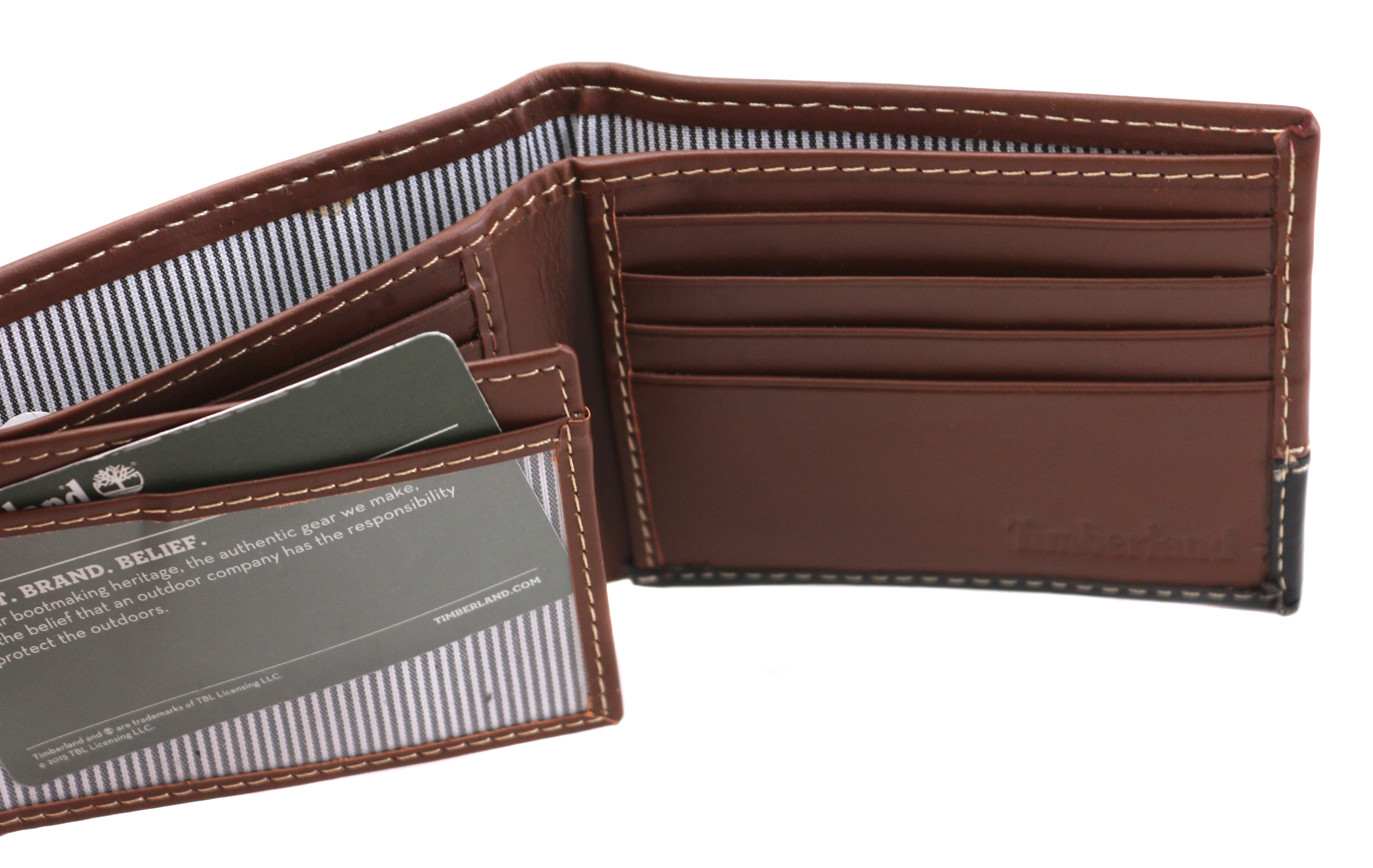 Timberland-Men-039-s-Genuine-Two-Tone-Leather-Credit-Card-Billfold-Commuter-Wallet thumbnail 33