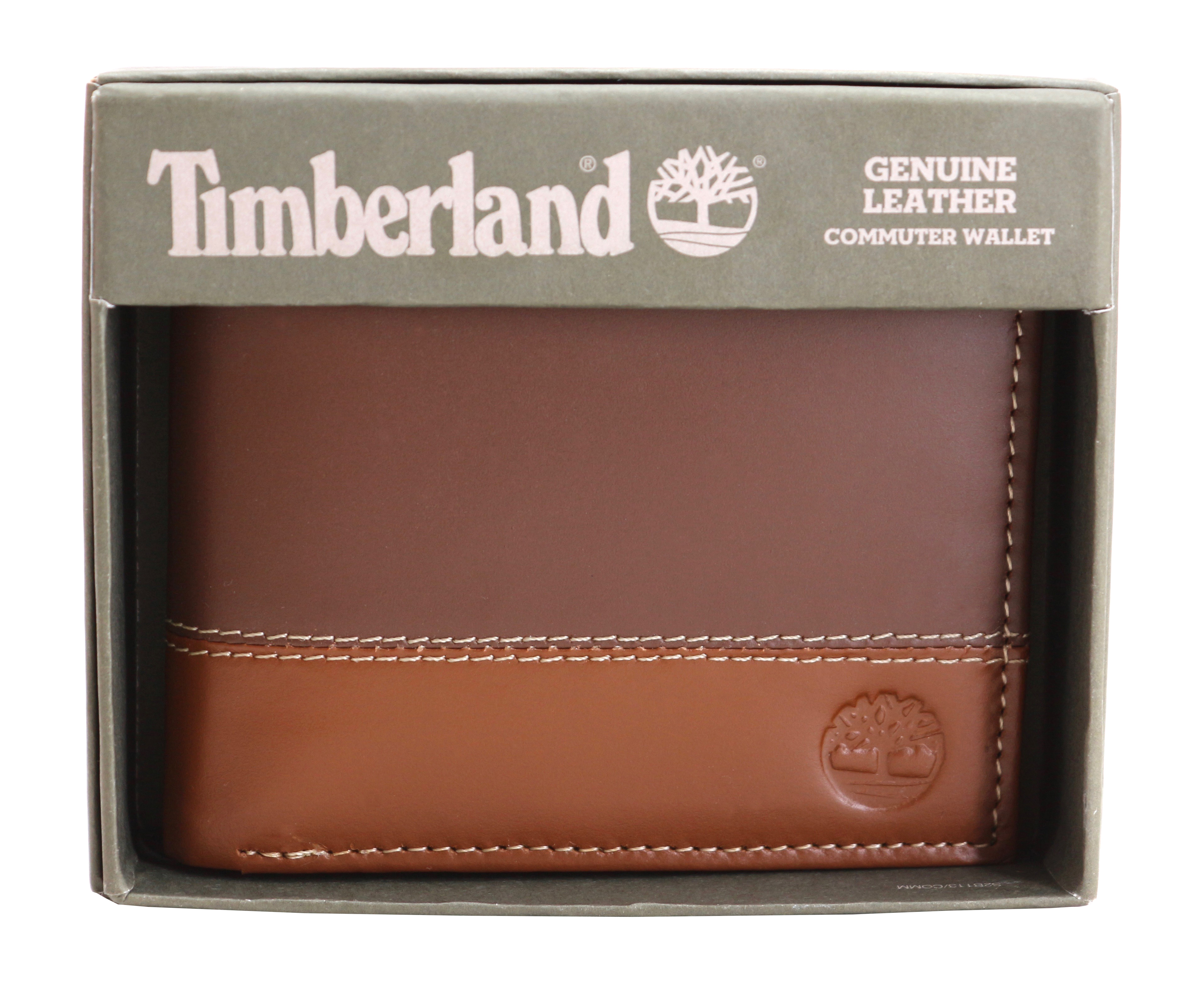 Timberland-Men-039-s-Genuine-Two-Tone-Leather-Credit-Card-Billfold-Commuter-Wallet thumbnail 44