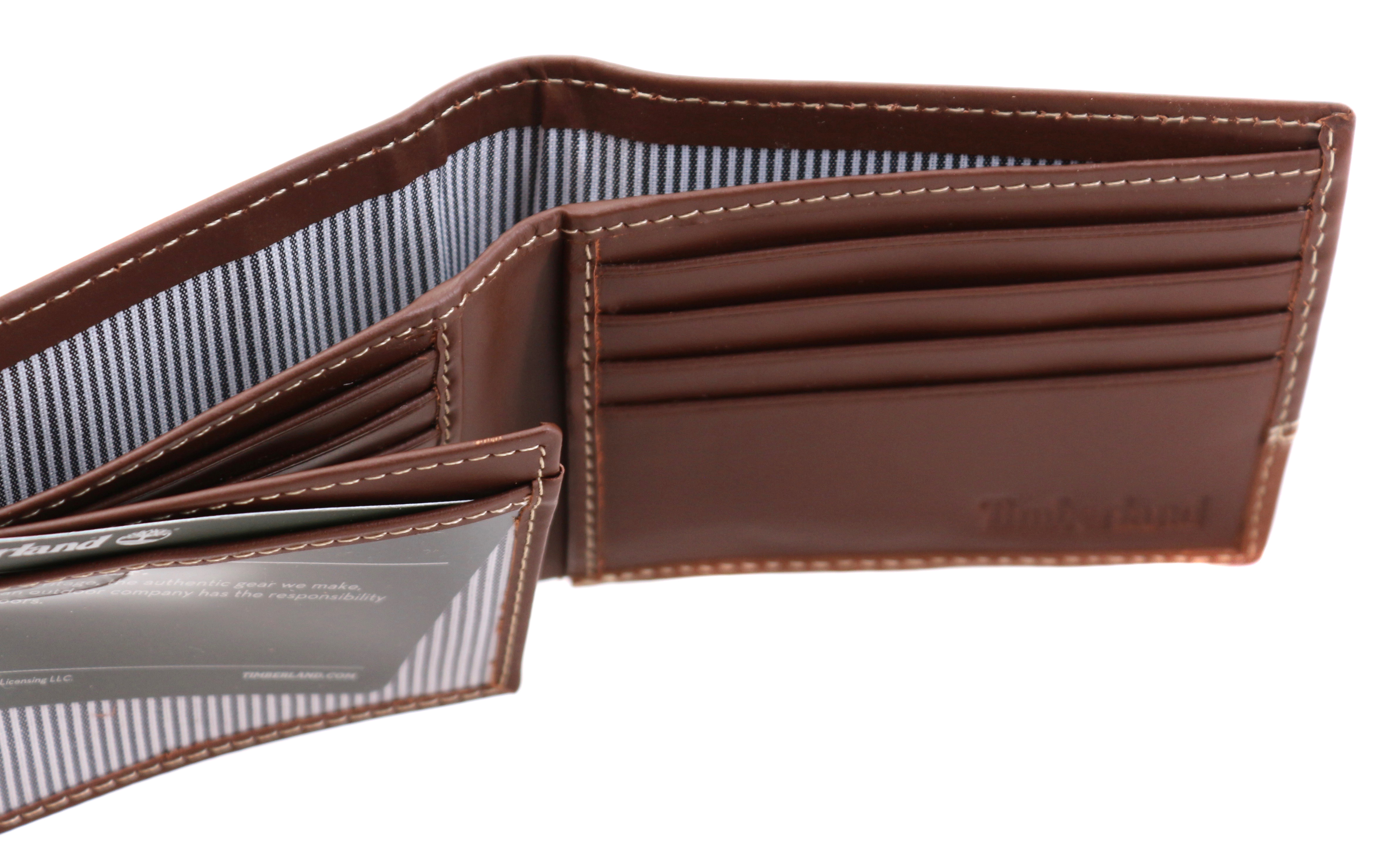 Timberland-Men-039-s-Genuine-Two-Tone-Leather-Credit-Card-Billfold-Commuter-Wallet thumbnail 42