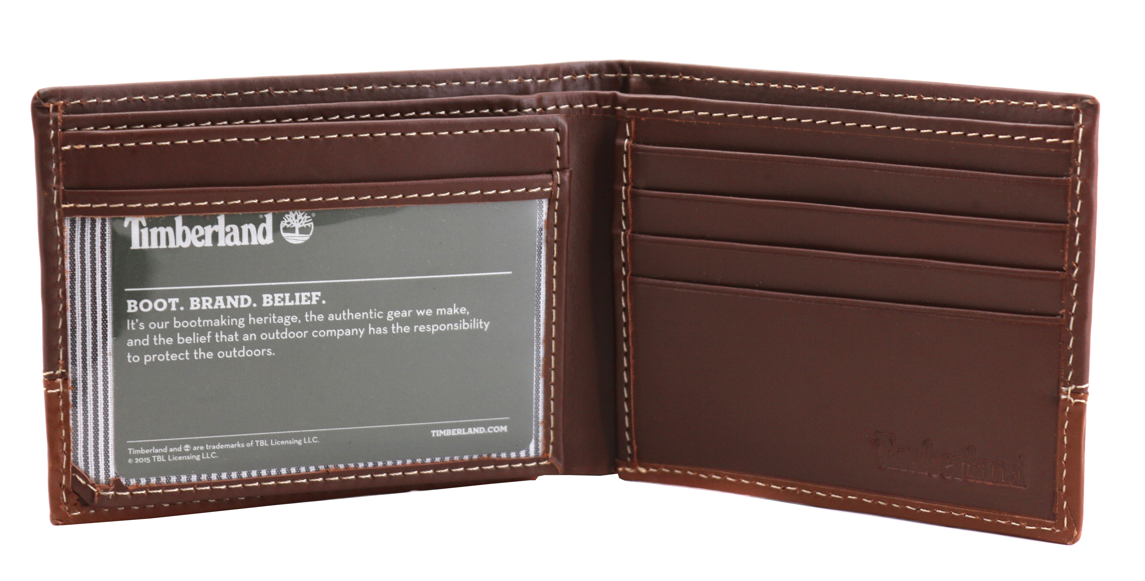 Timberland-Men-039-s-Genuine-Two-Tone-Leather-Credit-Card-Billfold-Commuter-Wallet thumbnail 40