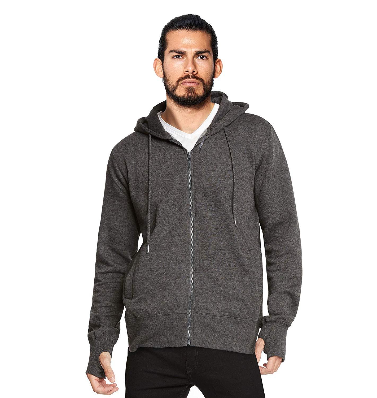 miniature 8 - Men-039-s-Zip-Up-Thumbhole-Ninja-Turtleneck-Skinny-Fit-Face-Protection-Hoodie-Jacket