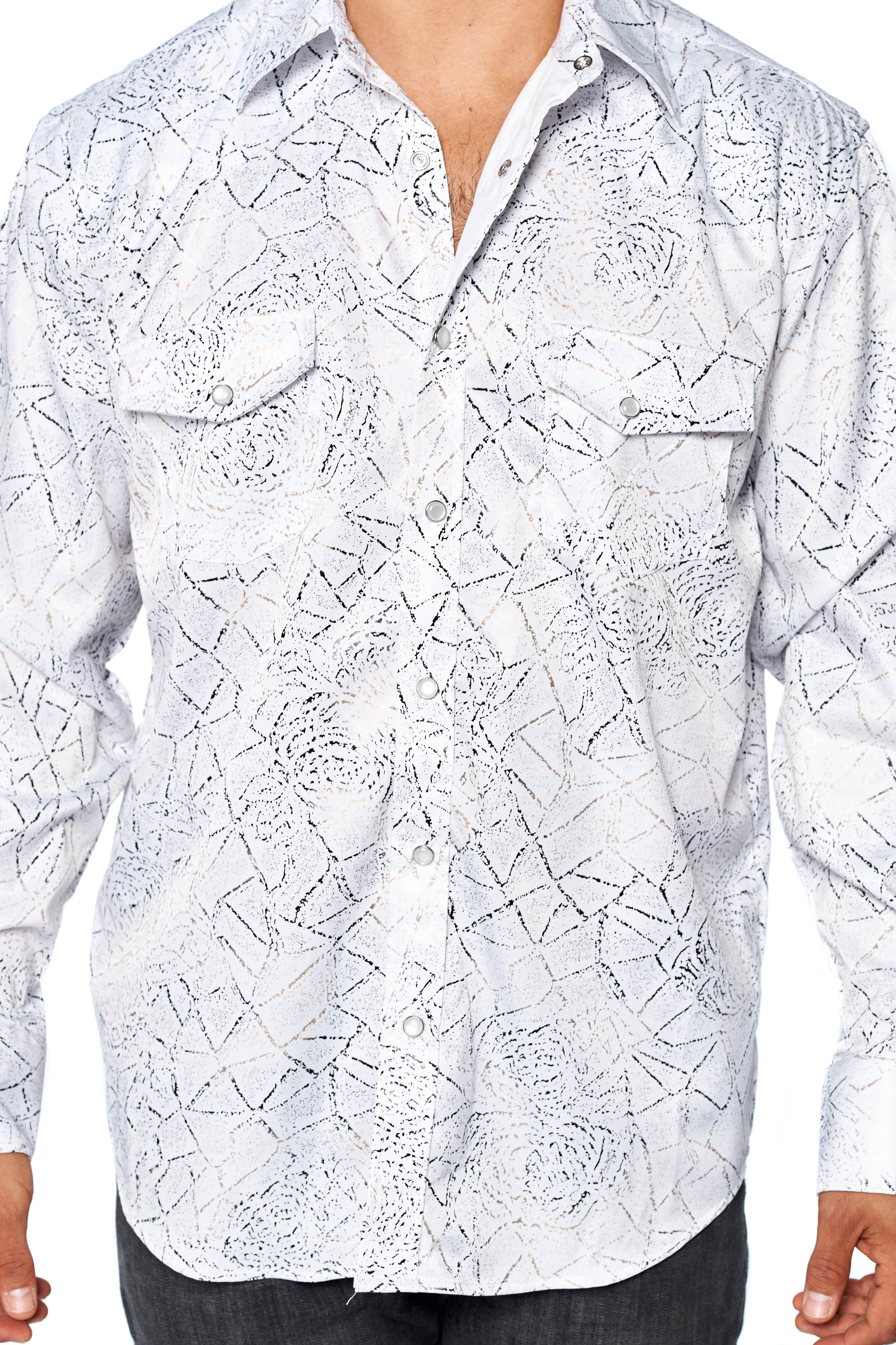 LW-Men-039-s-Pearl-Snap-Tribal-Stylish-Printed-Woven-Western-Vaquero-Rodeo-Shirt thumbnail 14