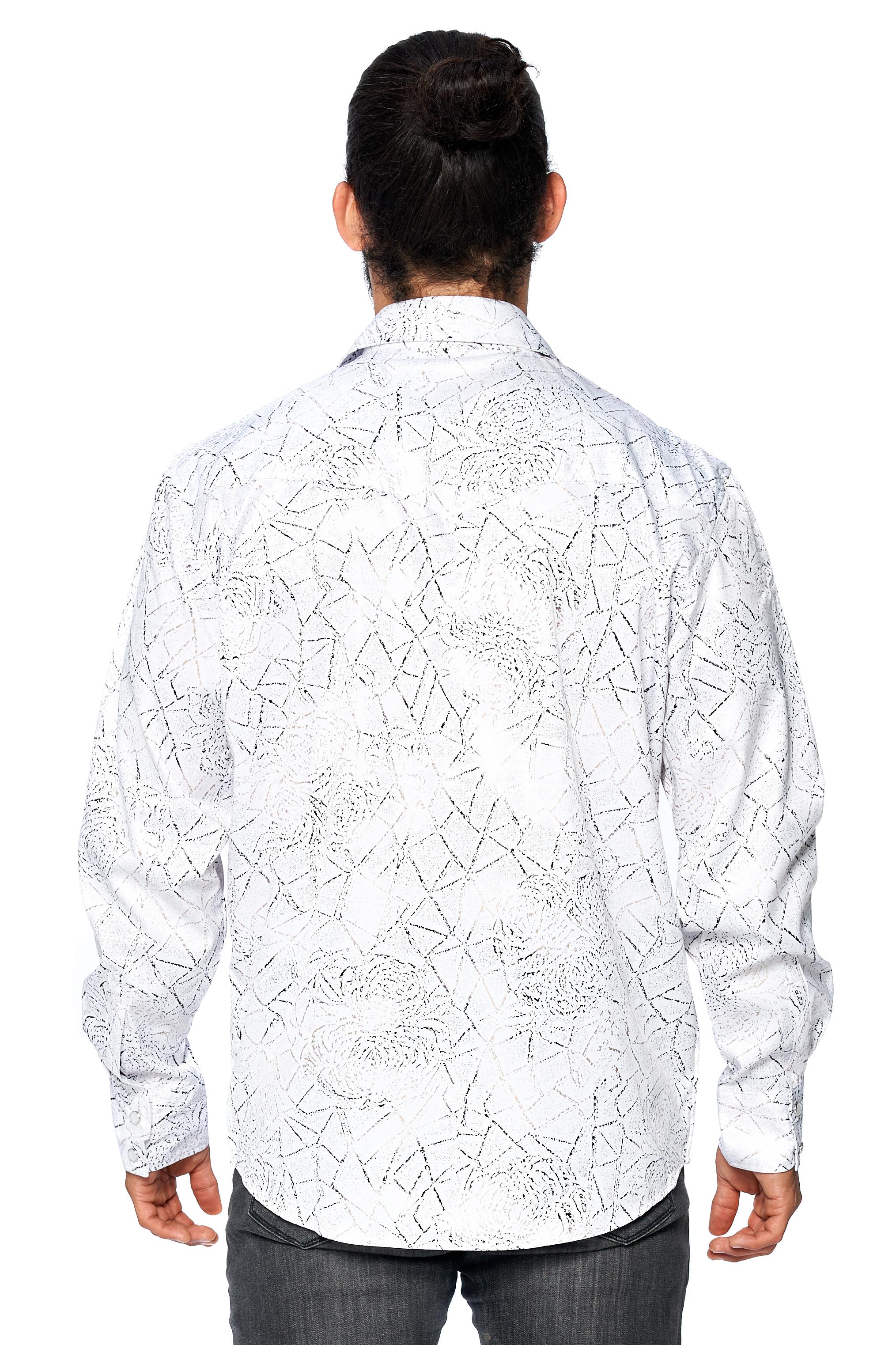 LW-Men-039-s-Pearl-Snap-Tribal-Stylish-Printed-Woven-Western-Vaquero-Rodeo-Shirt thumbnail 15