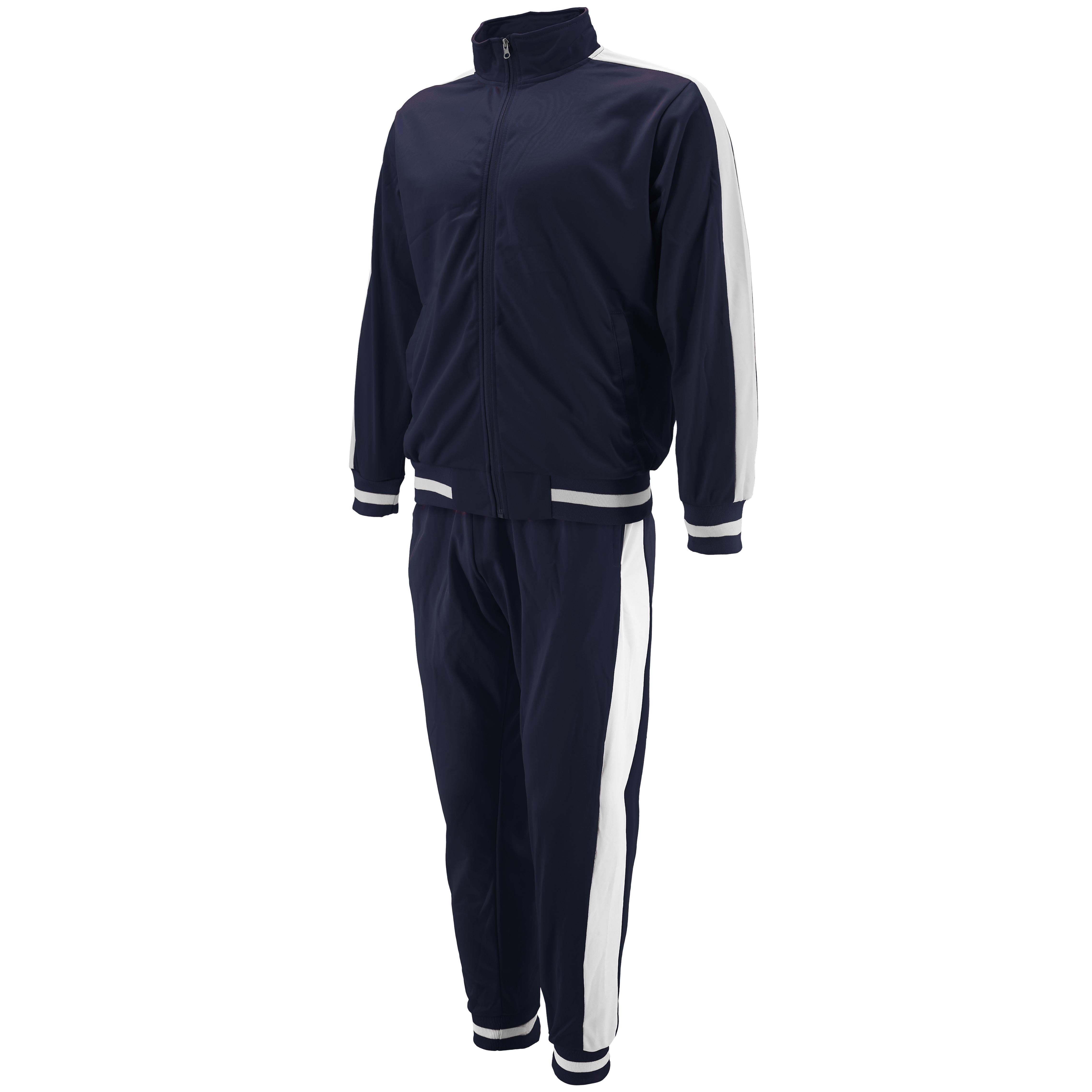 vkwear-Men-039-s-Striped-Athletic-Running-Jogging-Gym-Slim-Fit-Sweat-Track-Suit-Set