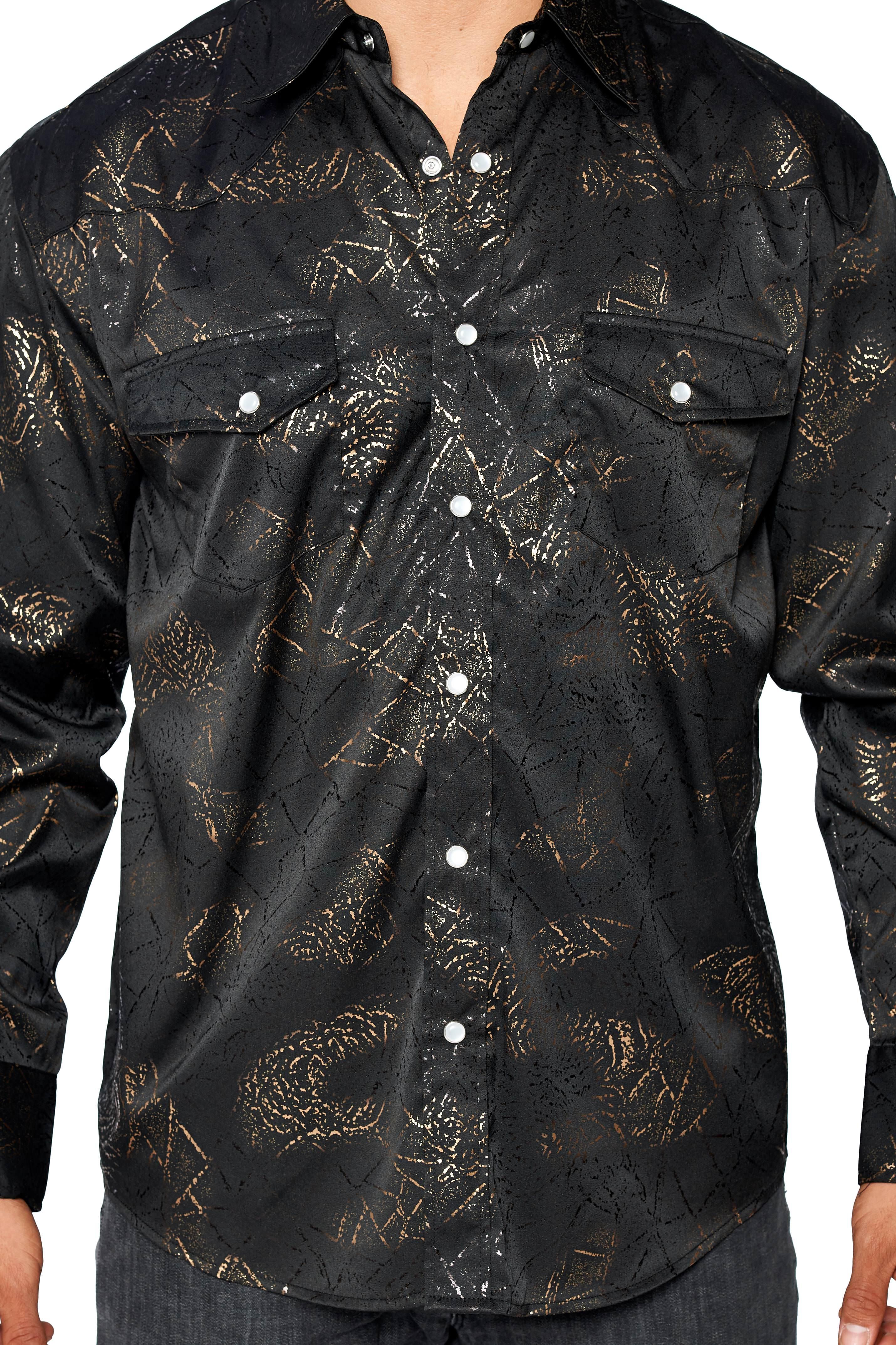 LW-Men-039-s-Pearl-Snap-Tribal-Stylish-Printed-Woven-Western-Vaquero-Rodeo-Shirt thumbnail 19