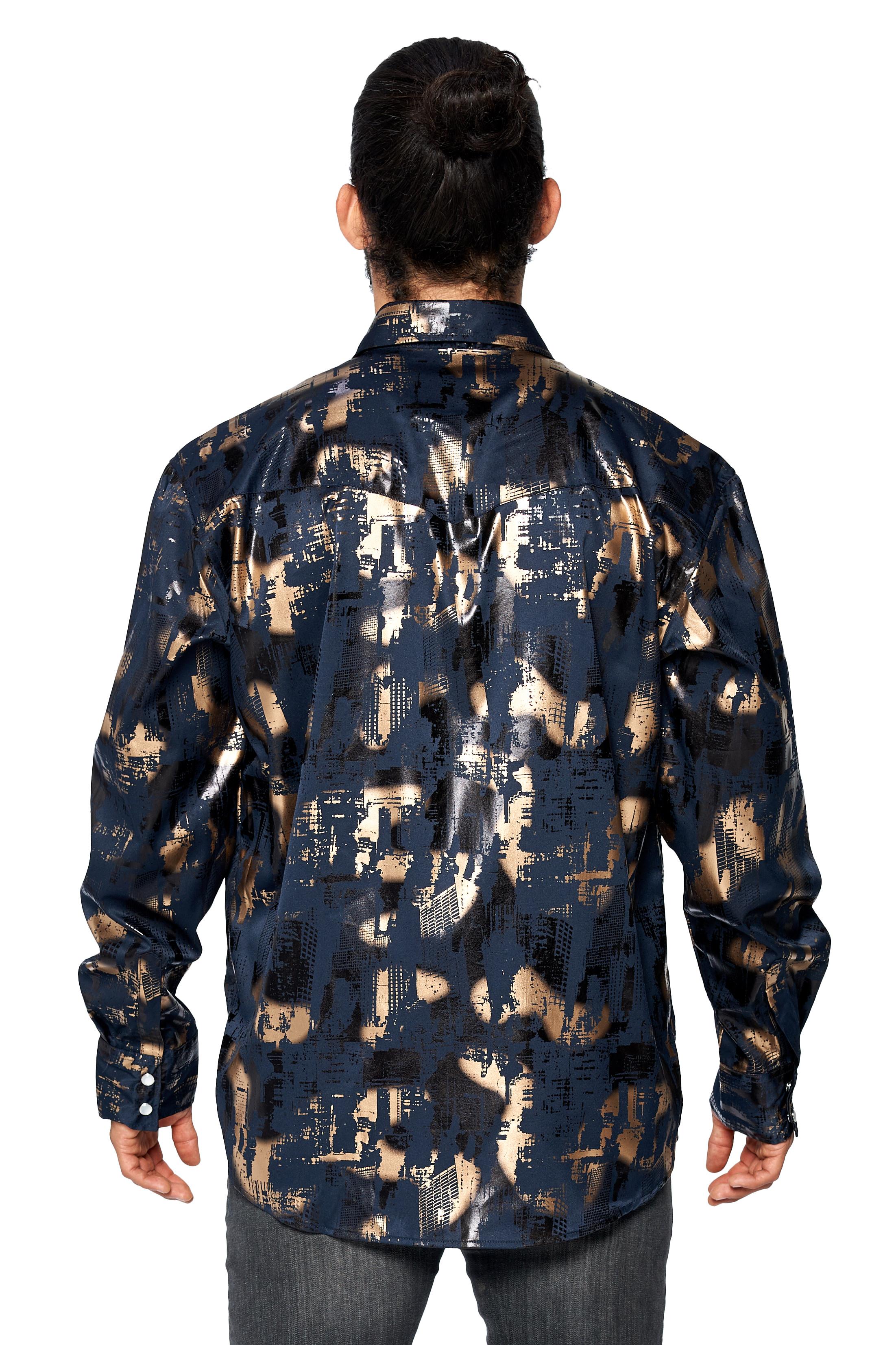LW-Men-039-s-Pearl-Snap-Tribal-Stylish-Printed-Woven-Western-Vaquero-Rodeo-Shirt thumbnail 25