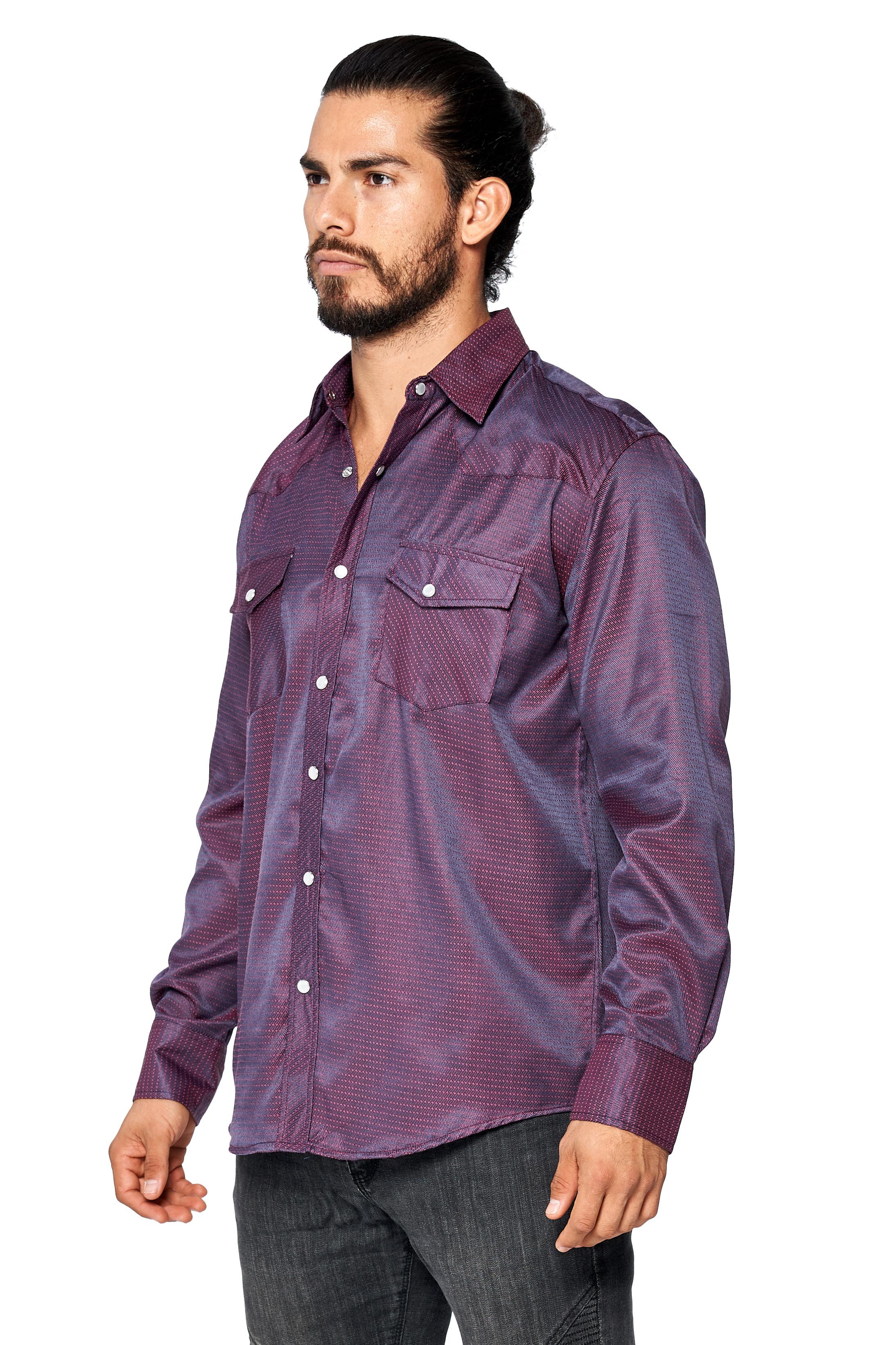 LW-Men-039-s-Pearl-Snap-Tribal-Stylish-Printed-Woven-Western-Vaquero-Rodeo-Shirt thumbnail 37