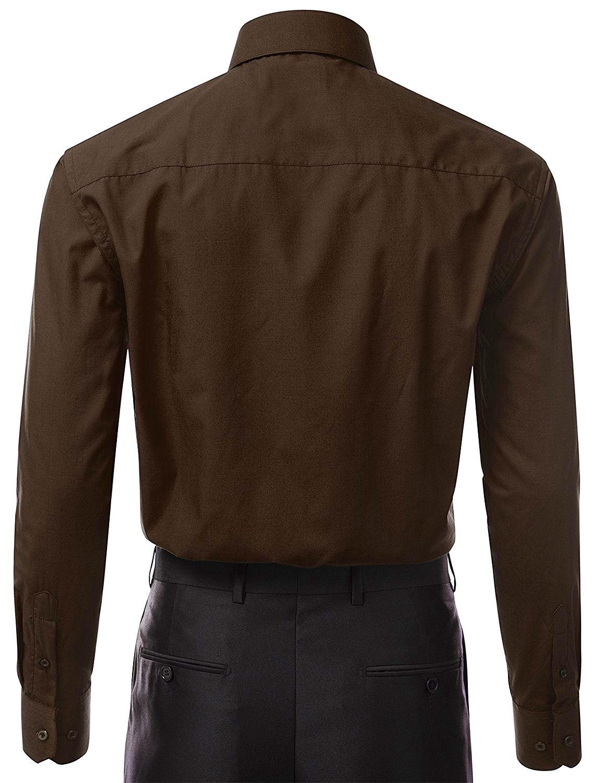 Berlioni-Italy-Men-039-s-Premium-Classic-French-Convertible-Cuff-Solid-Dress-Shirt thumbnail 53