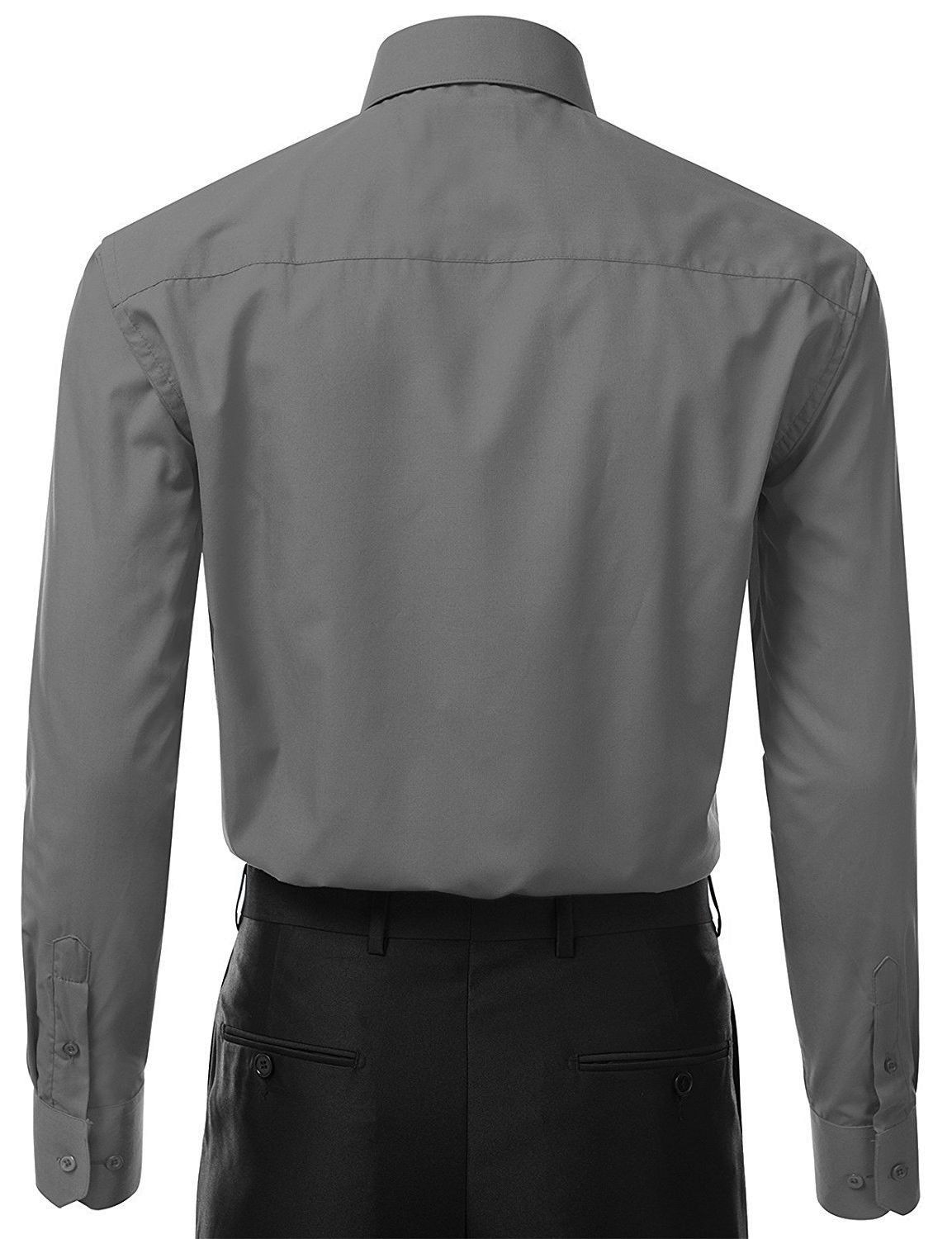 Berlioni-Italy-Men-039-s-Premium-Classic-French-Convertible-Cuff-Solid-Dress-Shirt thumbnail 25