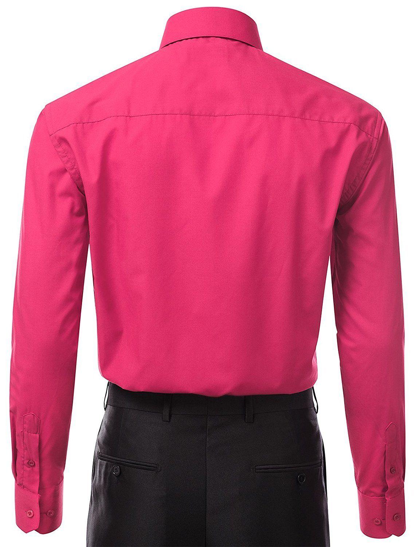Berlioni-Italy-Men-039-s-Premium-Classic-French-Convertible-Cuff-Solid-Dress-Shirt thumbnail 29