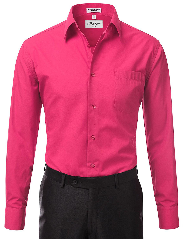 Berlioni-Italy-Men-039-s-Premium-Classic-French-Convertible-Cuff-Solid-Dress-Shirt thumbnail 28