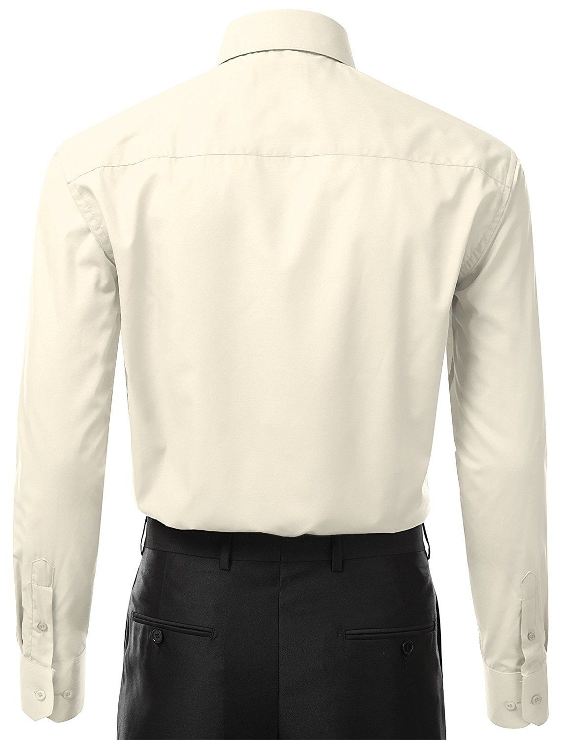 Berlioni-Italy-Men-039-s-Premium-Classic-French-Convertible-Cuff-Solid-Dress-Shirt thumbnail 41
