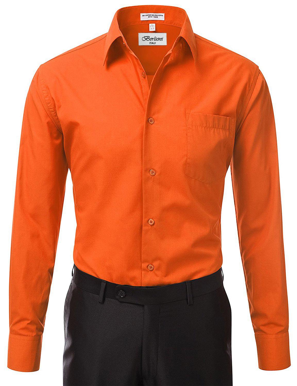 Berlioni-Italy-Men-039-s-Premium-Classic-French-Convertible-Cuff-Solid-Dress-Shirt thumbnail 64