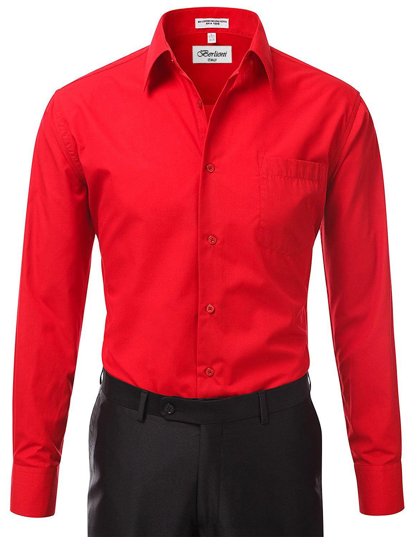 Berlioni-Italy-Men-039-s-Premium-Classic-French-Convertible-Cuff-Solid-Dress-Shirt thumbnail 8