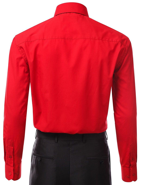Berlioni-Italy-Men-039-s-Premium-Classic-French-Convertible-Cuff-Solid-Dress-Shirt thumbnail 9