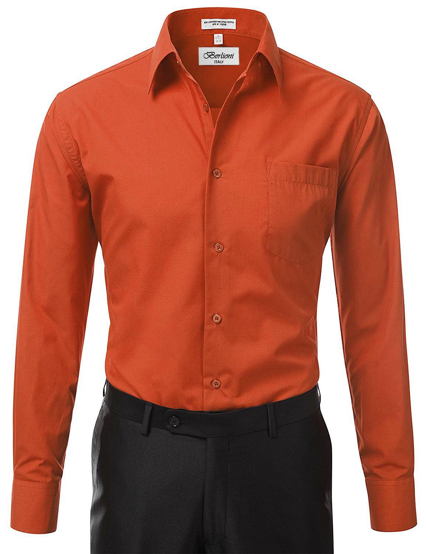 Berlioni-Italy-Men-039-s-Premium-Classic-French-Convertible-Cuff-Solid-Dress-Shirt thumbnail 4