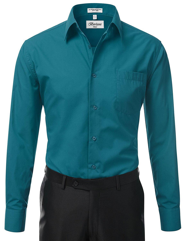 Berlioni-Italy-Men-039-s-Premium-Classic-French-Convertible-Cuff-Solid-Dress-Shirt thumbnail 20