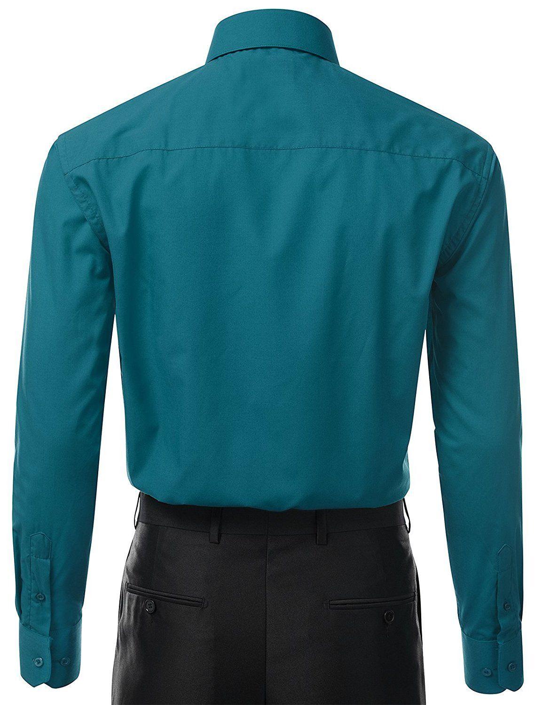 Berlioni-Italy-Men-039-s-Premium-Classic-French-Convertible-Cuff-Solid-Dress-Shirt thumbnail 21