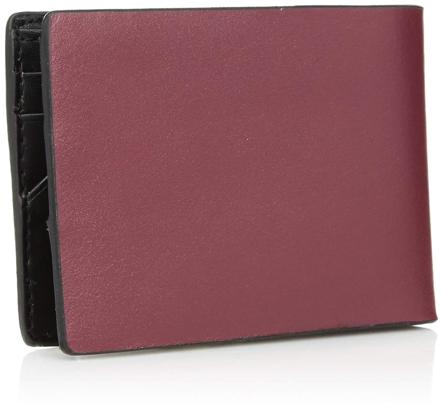 0ee9685315 Calvin Klein CK Men's Genuine Leather Slimfold Embossed Logo Wallet ...
