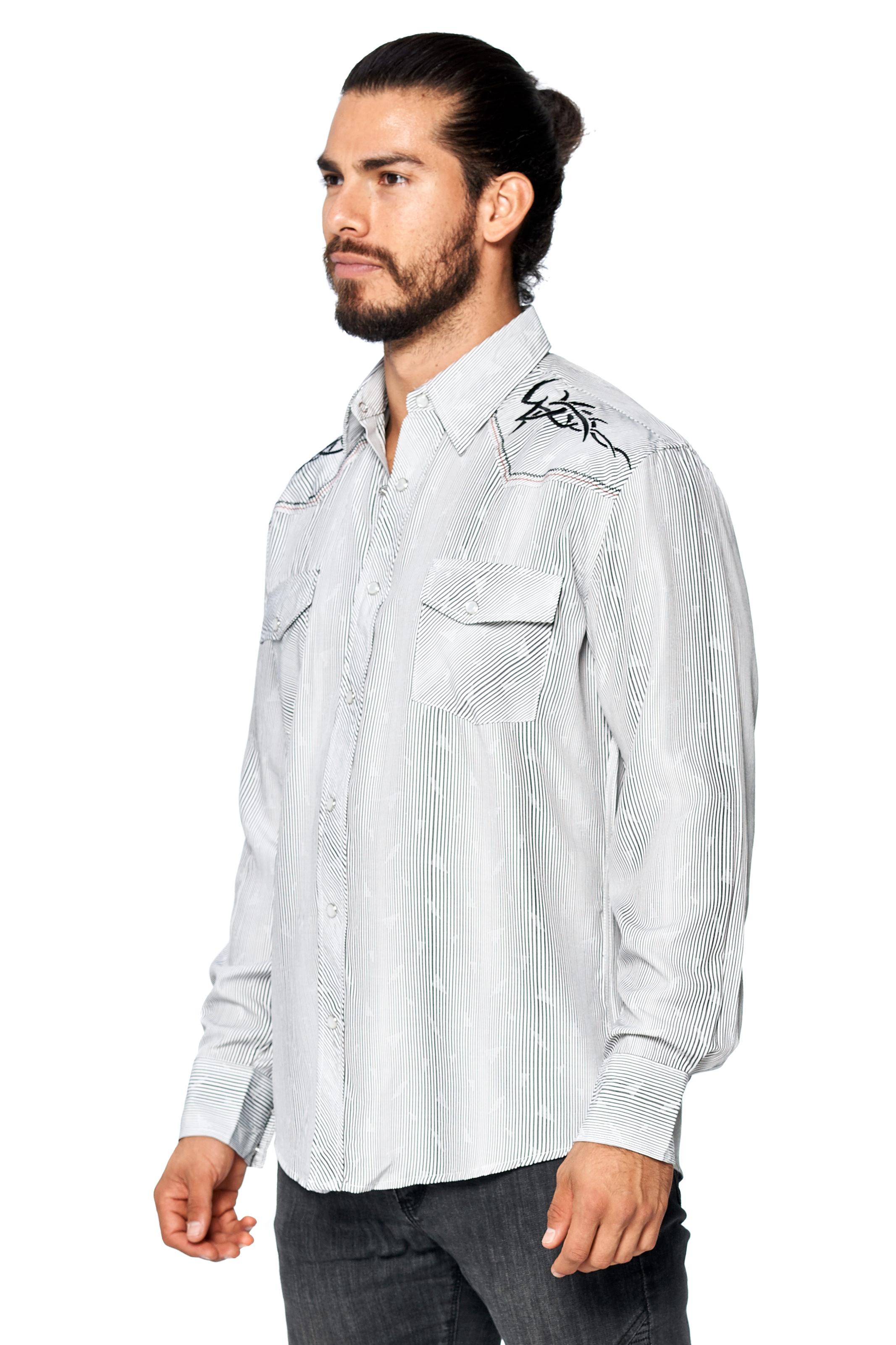 LW-Men-039-s-Pearl-Snap-Tribal-Stylish-Printed-Woven-Western-Vaquero-Rodeo-Shirt thumbnail 62