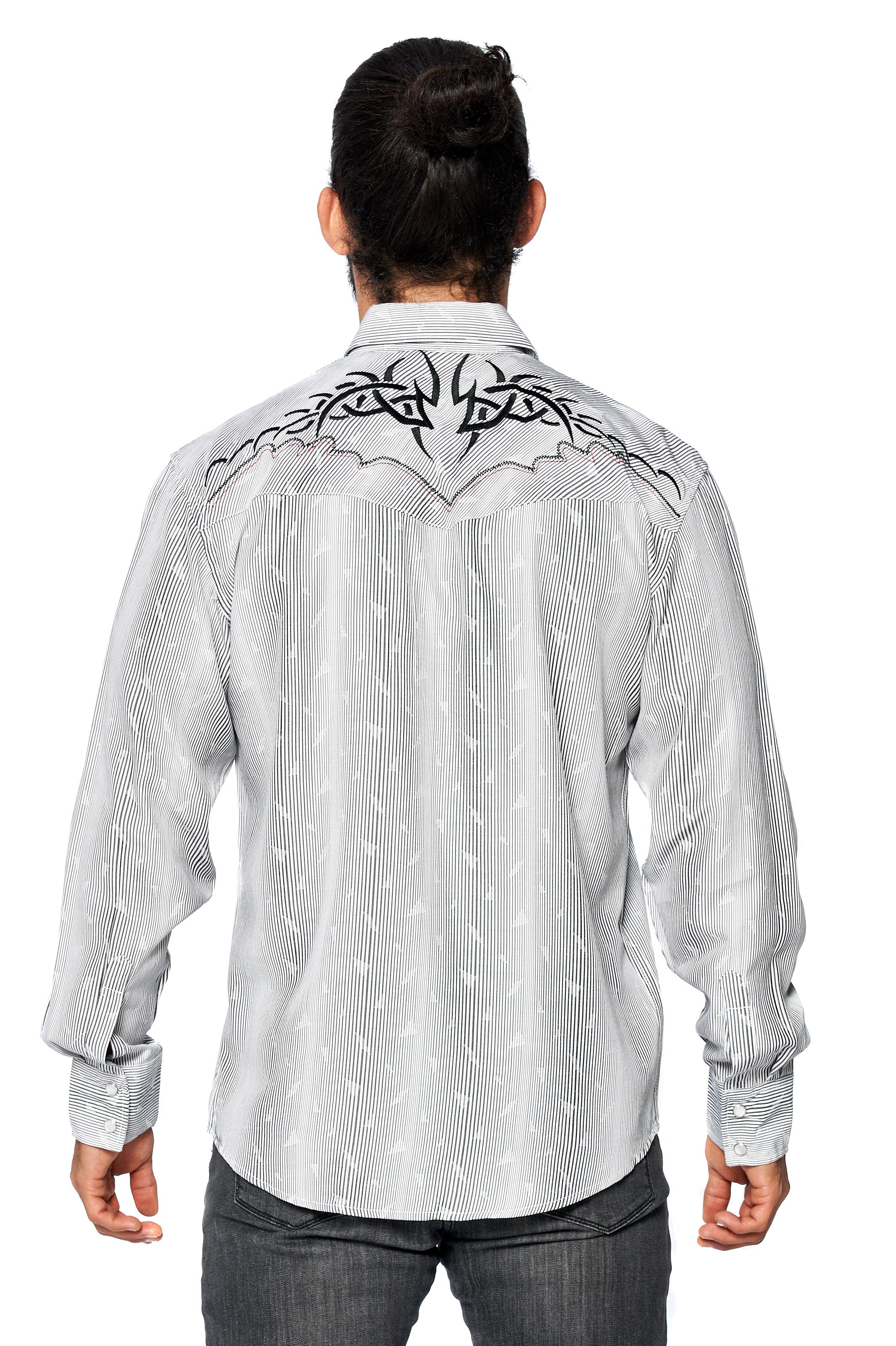 LW-Men-039-s-Pearl-Snap-Tribal-Stylish-Printed-Woven-Western-Vaquero-Rodeo-Shirt thumbnail 60
