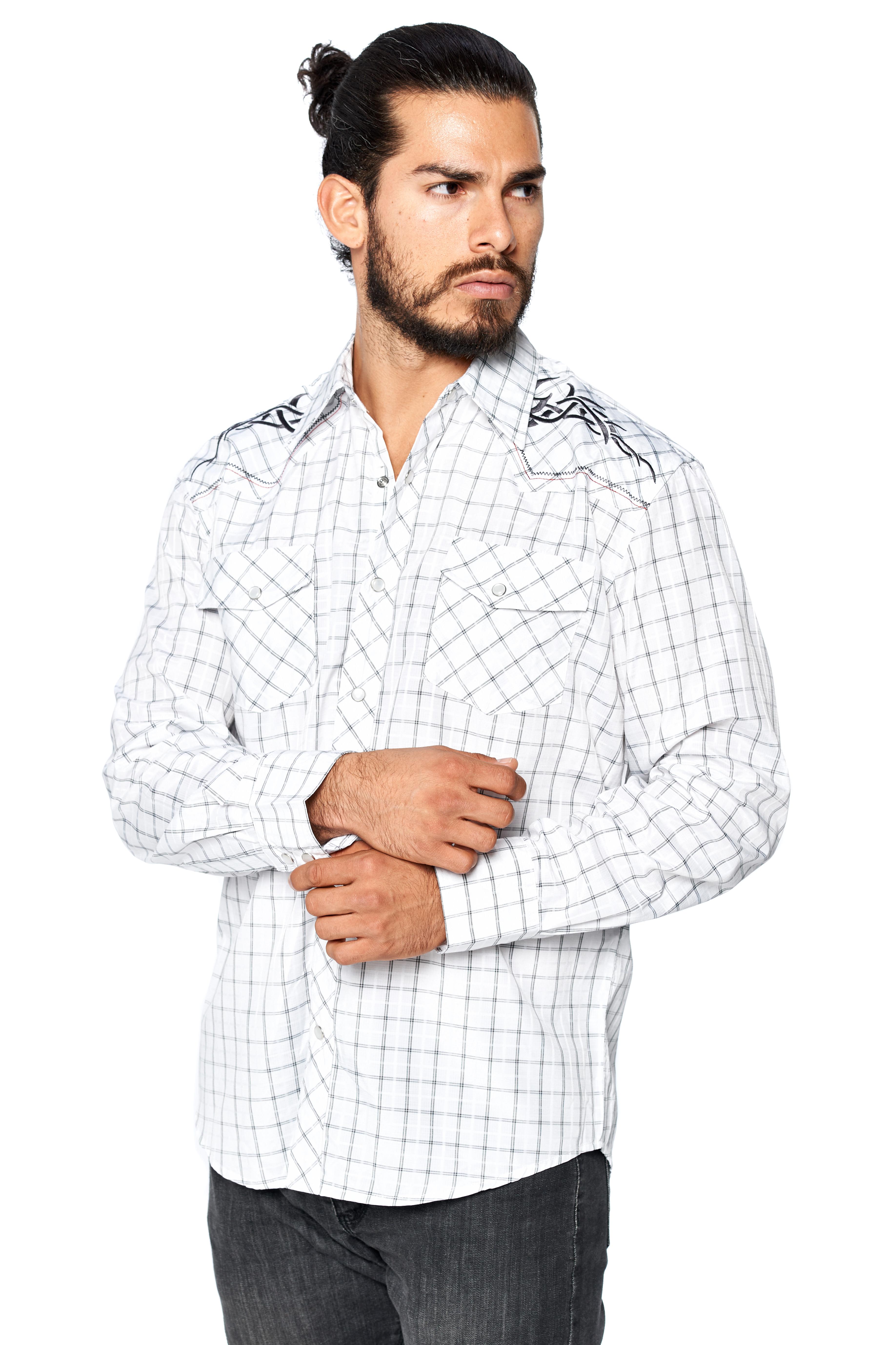 LW-Men-039-s-Pearl-Snap-Tribal-Stylish-Printed-Woven-Western-Vaquero-Rodeo-Shirt thumbnail 66