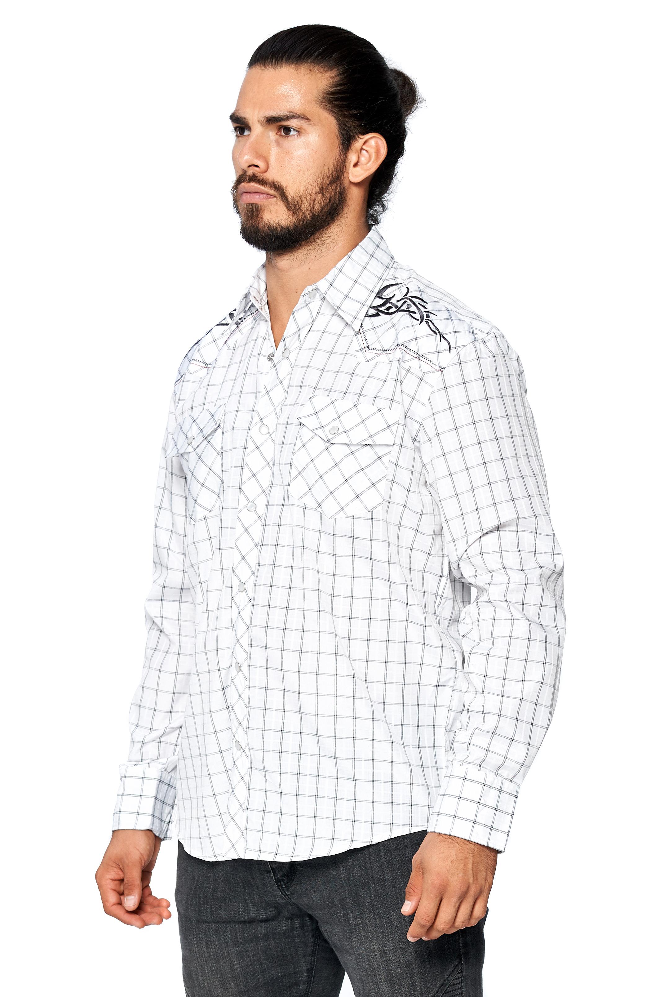 LW-Men-039-s-Pearl-Snap-Tribal-Stylish-Printed-Woven-Western-Vaquero-Rodeo-Shirt thumbnail 67