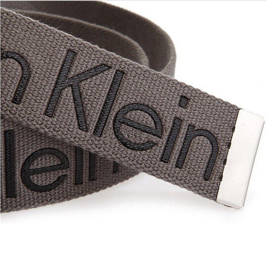New-Calvin-Klein-Men-039-s-Premium-CK-Logo-Cotton-Adjustable-38mm-Canvas-Belt-73545 thumbnail 14