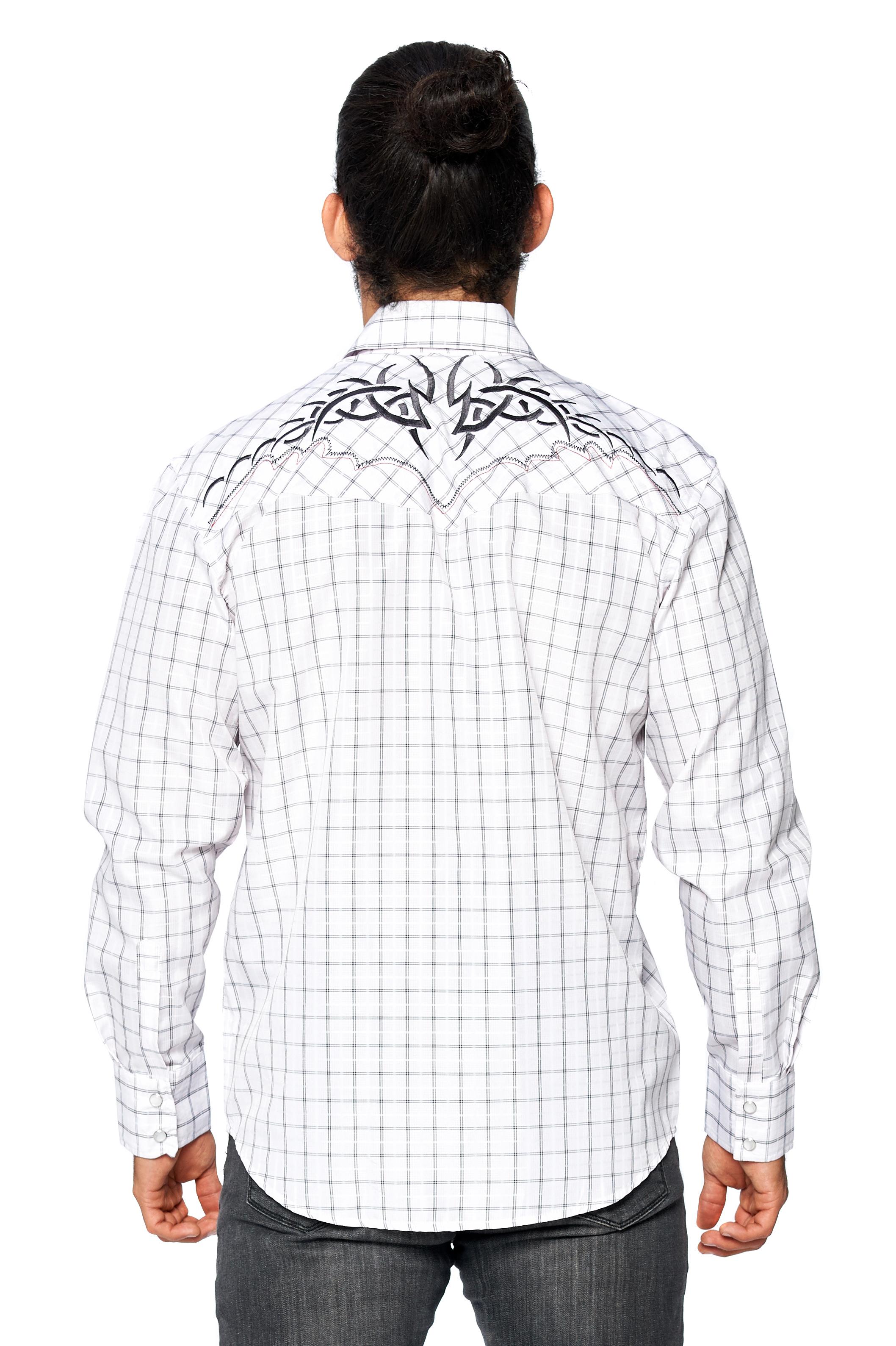 LW-Men-039-s-Pearl-Snap-Tribal-Stylish-Printed-Woven-Western-Vaquero-Rodeo-Shirt thumbnail 70
