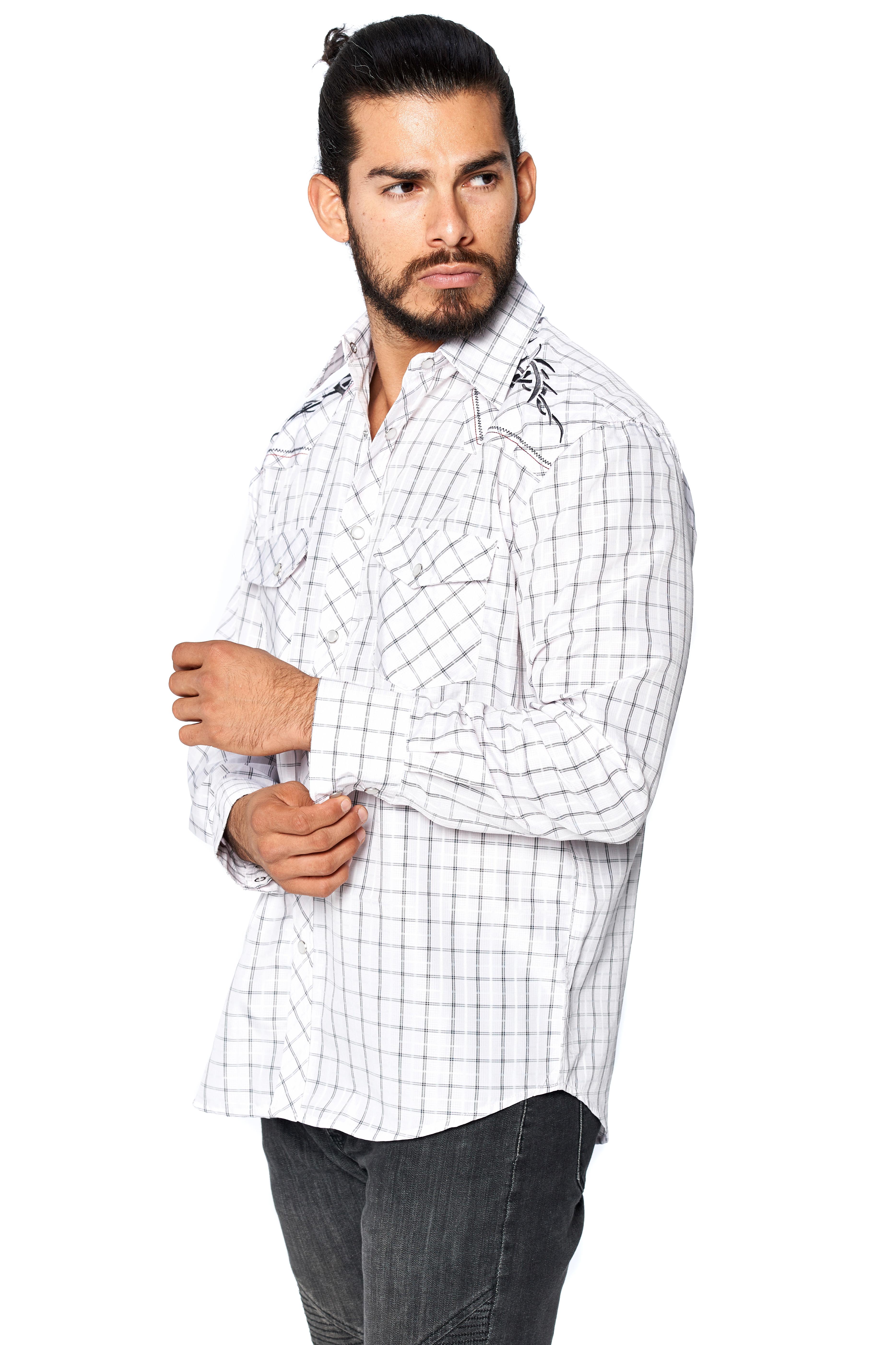 LW-Men-039-s-Pearl-Snap-Tribal-Stylish-Printed-Woven-Western-Vaquero-Rodeo-Shirt thumbnail 71