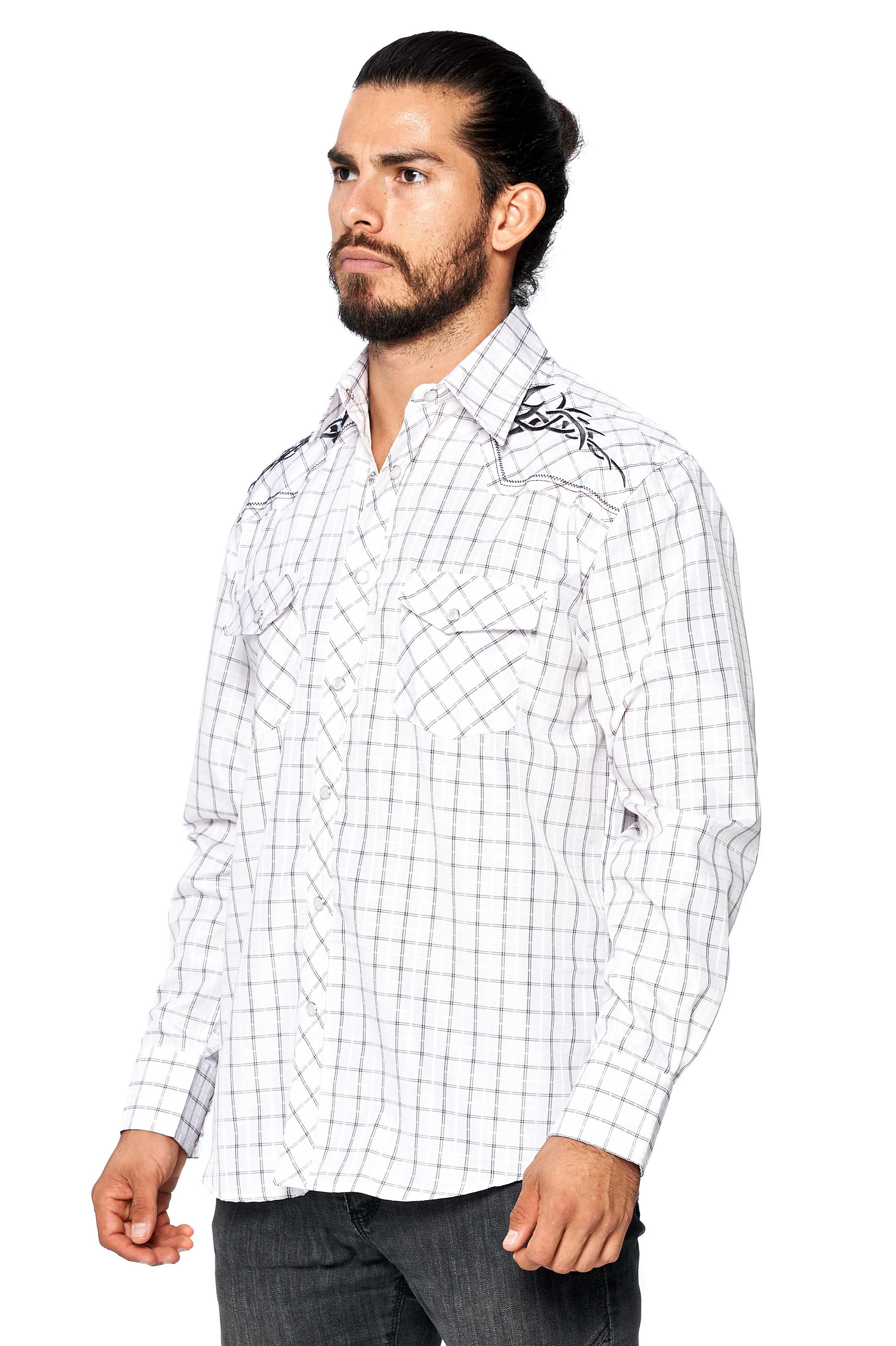 LW-Men-039-s-Pearl-Snap-Tribal-Stylish-Printed-Woven-Western-Vaquero-Rodeo-Shirt thumbnail 72