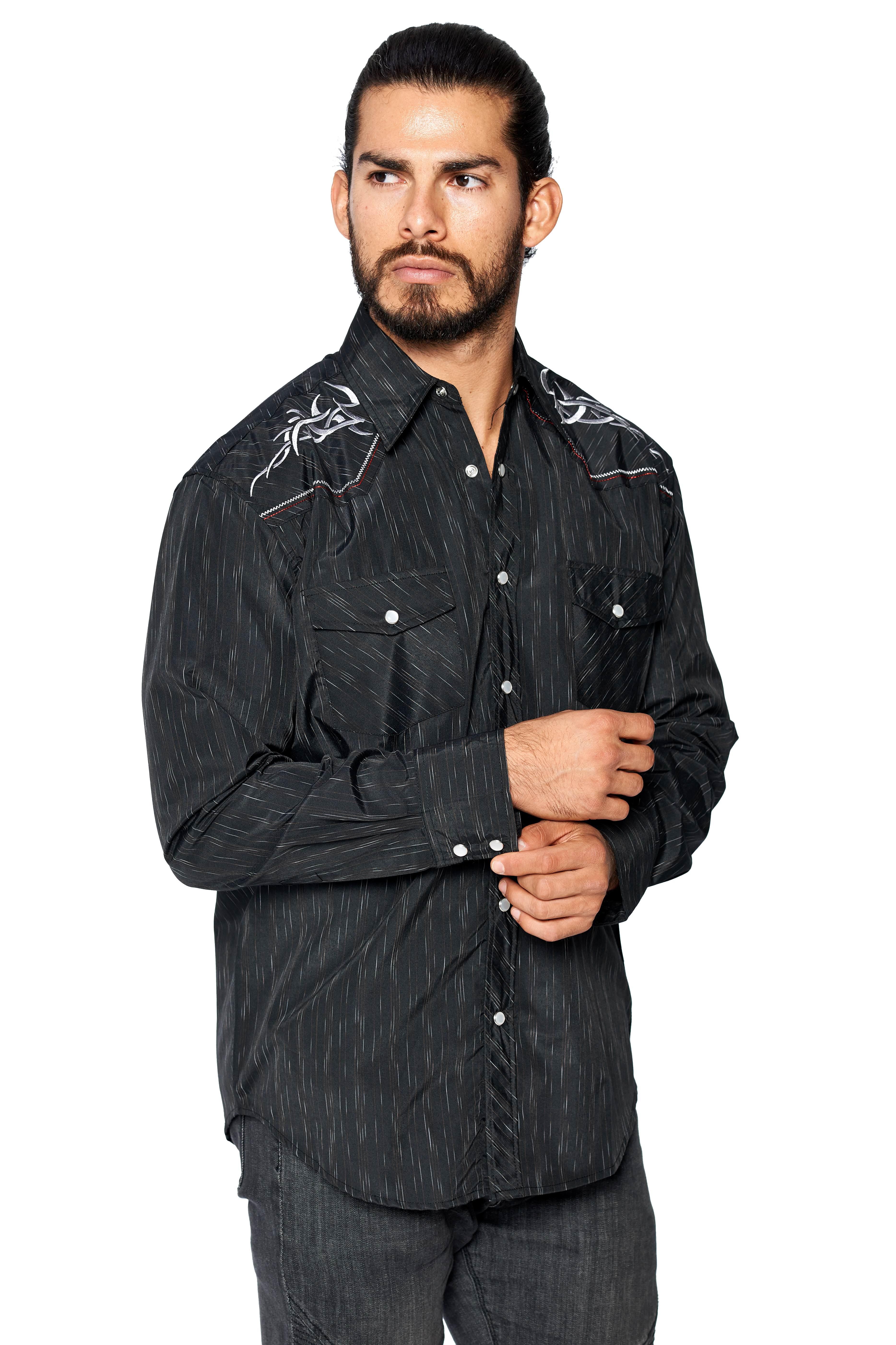LW-Men-039-s-Pearl-Snap-Tribal-Stylish-Printed-Woven-Western-Vaquero-Rodeo-Shirt thumbnail 76