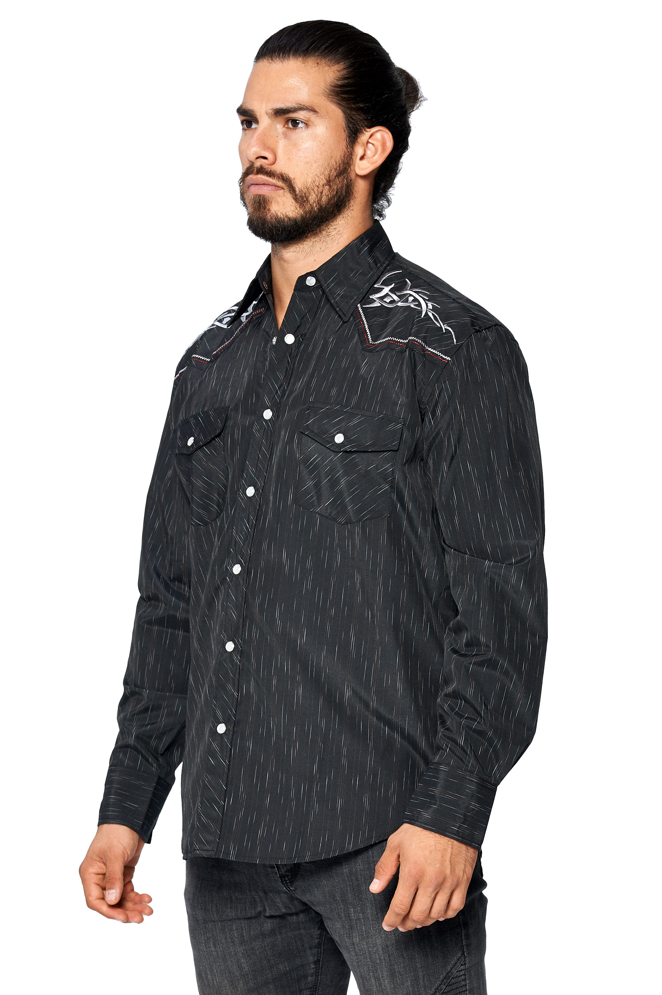 LW-Men-039-s-Pearl-Snap-Tribal-Stylish-Printed-Woven-Western-Vaquero-Rodeo-Shirt thumbnail 77