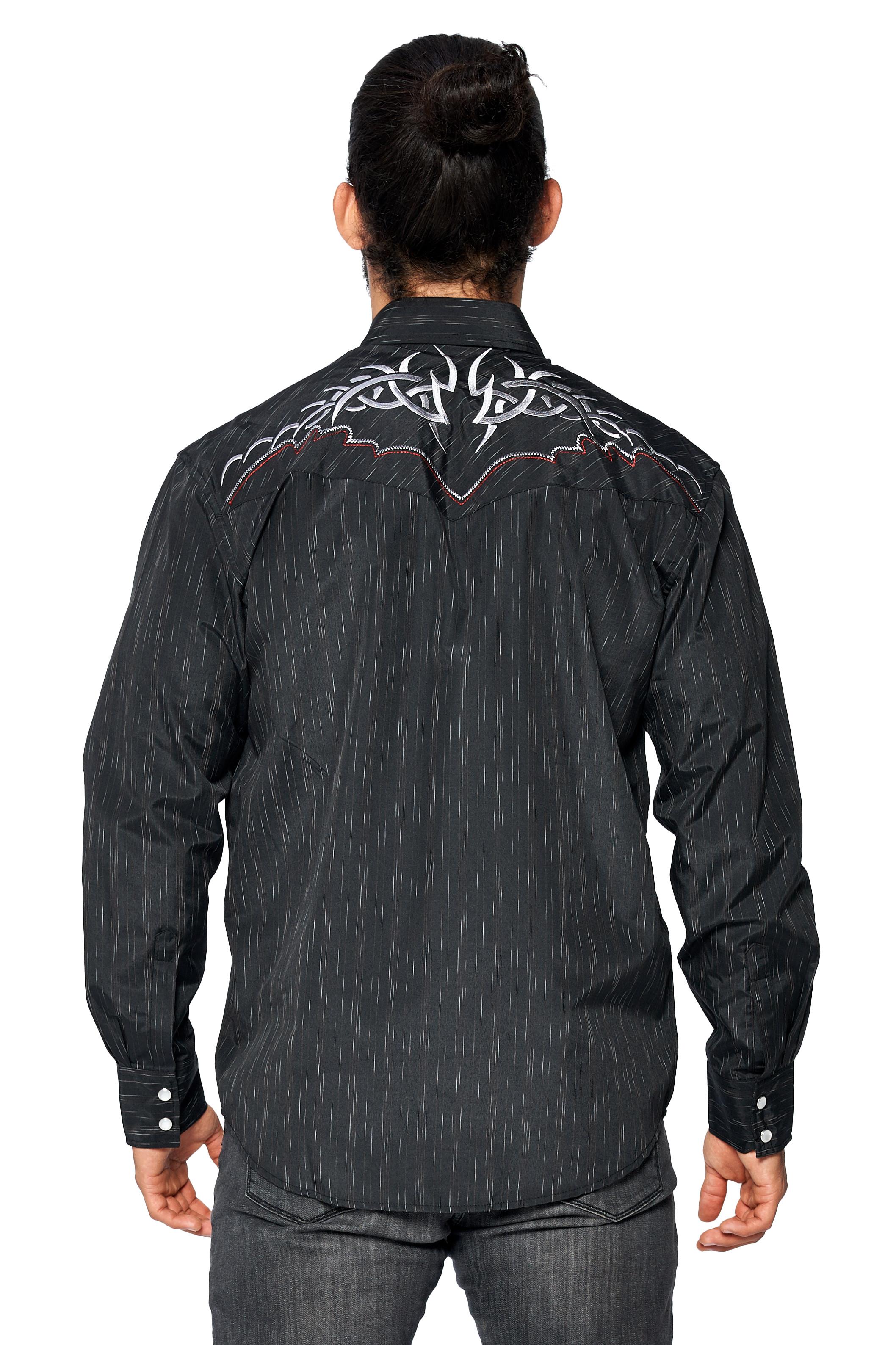 LW-Men-039-s-Pearl-Snap-Tribal-Stylish-Printed-Woven-Western-Vaquero-Rodeo-Shirt thumbnail 75