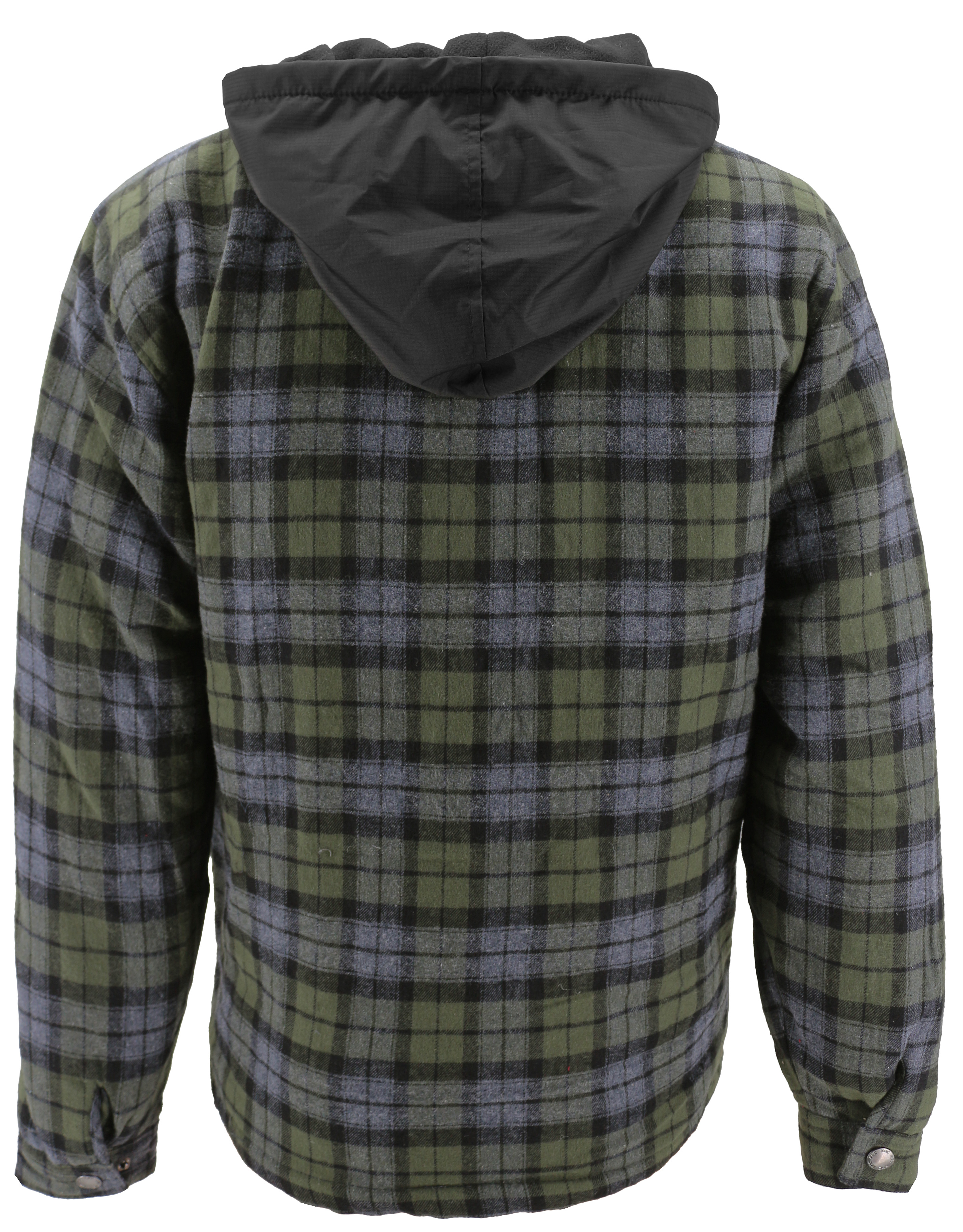 vkwear-Men-039-s-Quilted-Lined-Cotton-Plaid-Flannel-Layered-Zip-Up-Hoodie-Jacket thumbnail 7